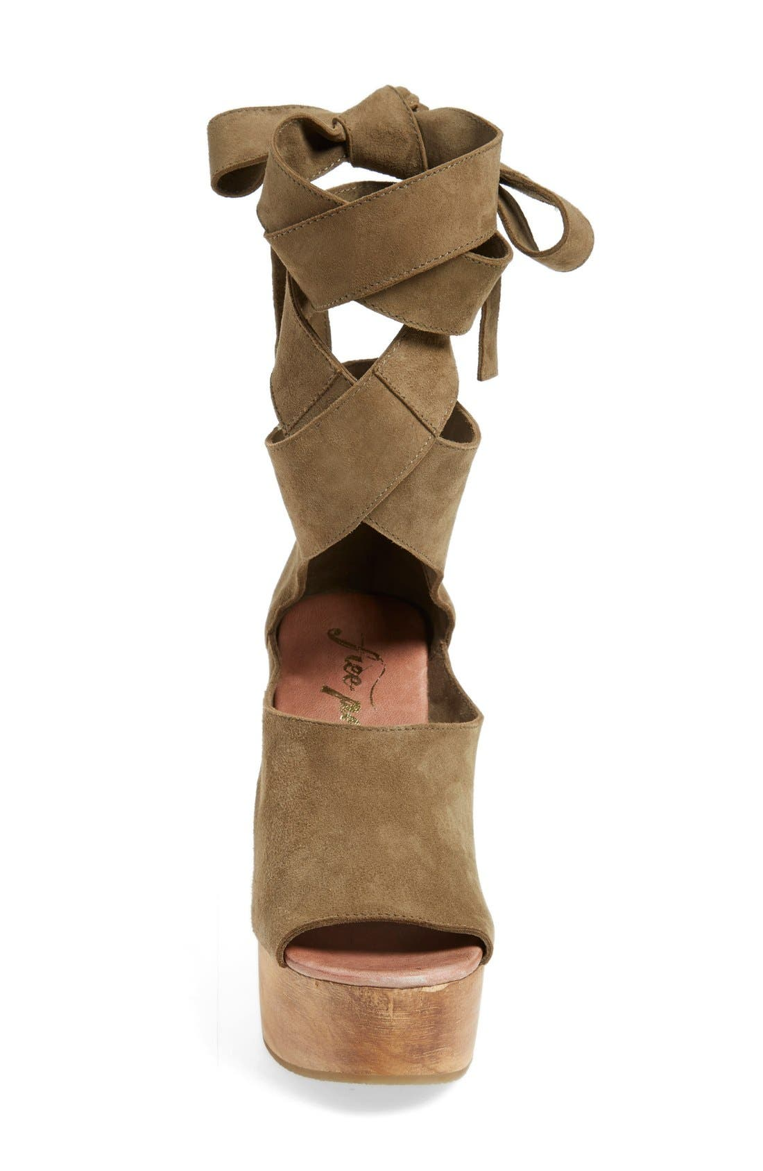 Alternate Image 3  - Free People 'Touch the Sky' Wrap Platform Clog Sandal (Women)