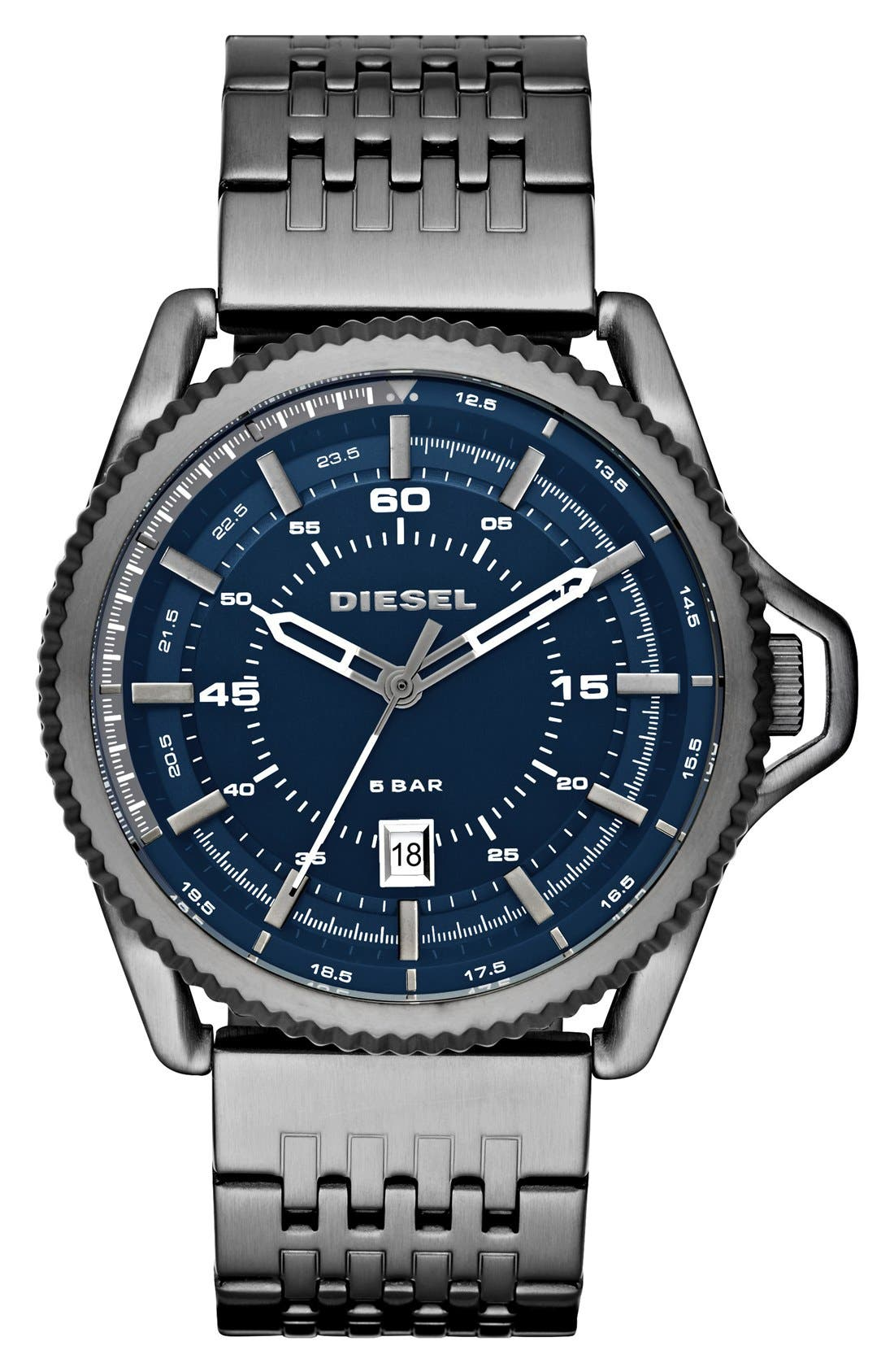 DIESEL® 'Rollcage' Bracelet Watch, 46mm