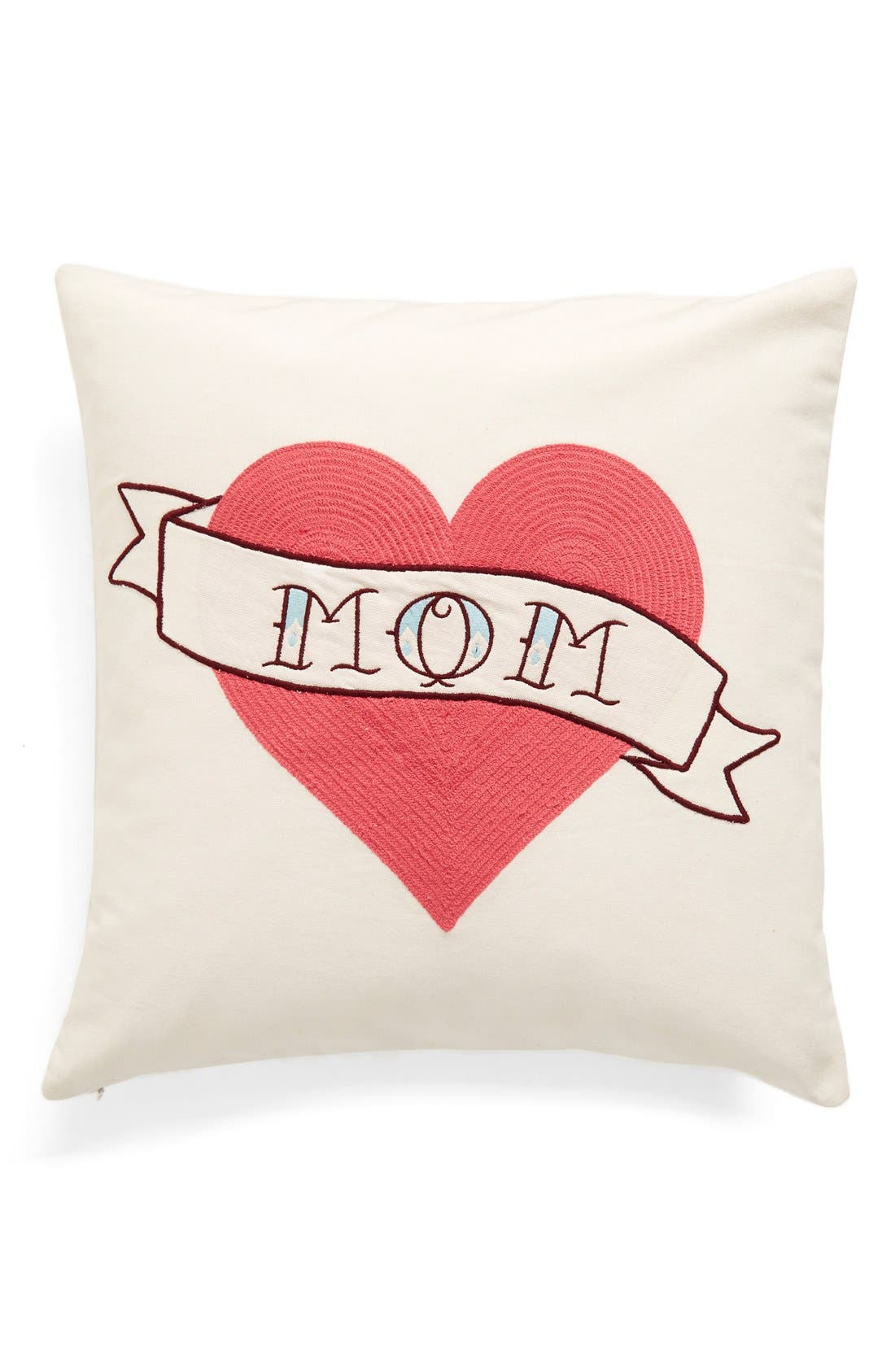 Main Image - Nordstrom at Home 'Mom Tattoo' Embroidered Pillow