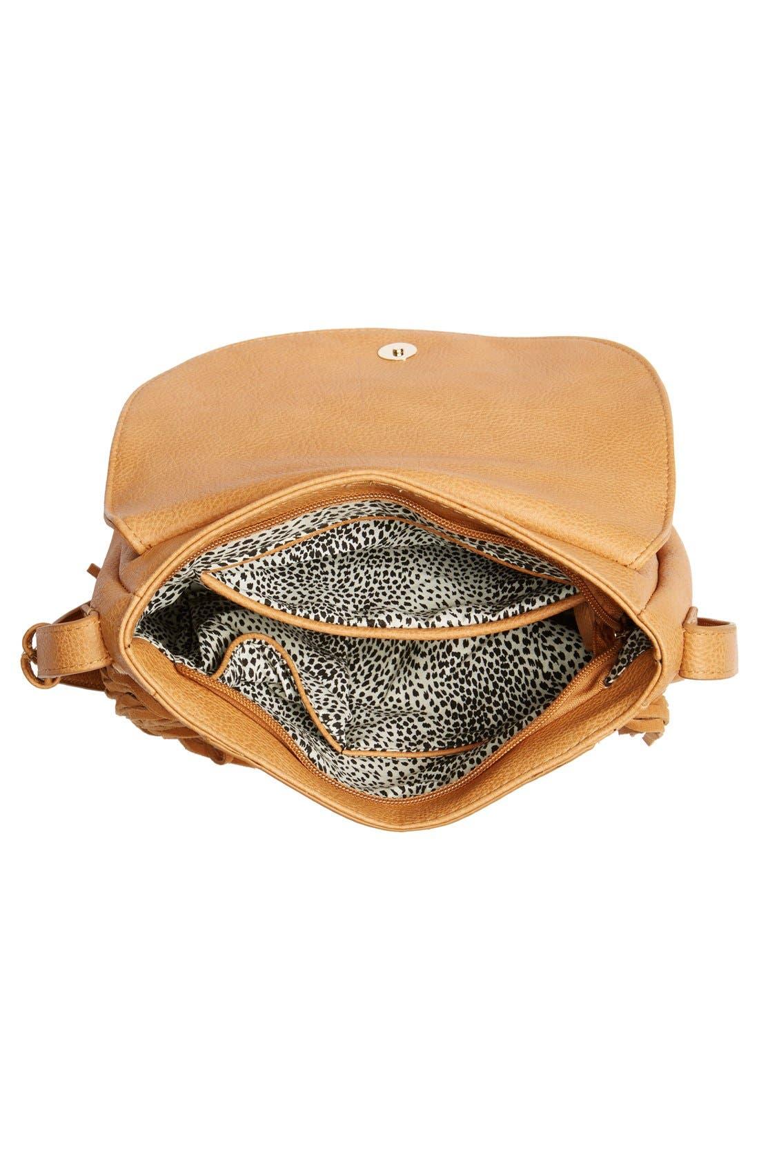 Alternate Image 4  - Sole Society 'Kerry' Fringe Faux Leather Crossbody Bag