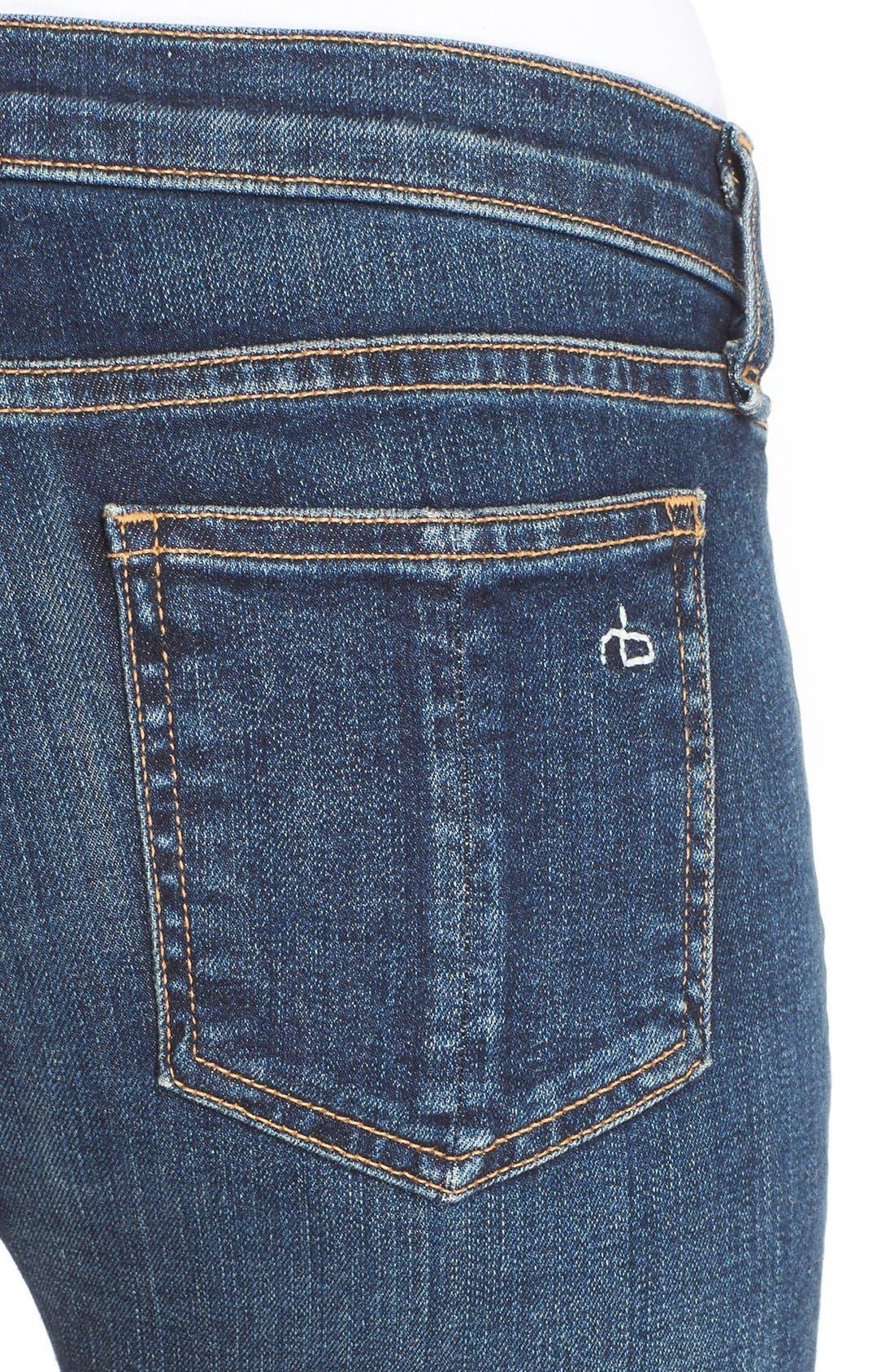 Alternate Image 4  - rag & bone/JEAN Skinny Jeans (Phoenicia)