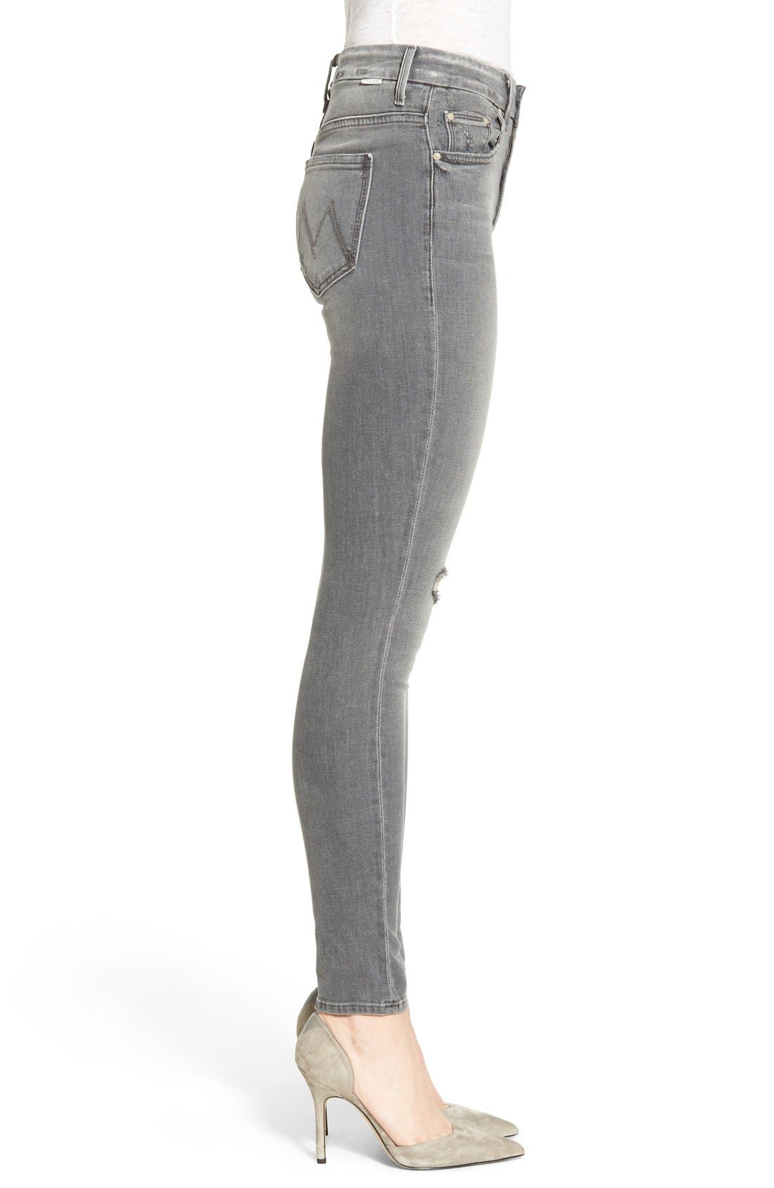 Alternate Image 3  - MOTHER 'The Looker' High Rise Skinny Jeans (To the Moon and Back Again)