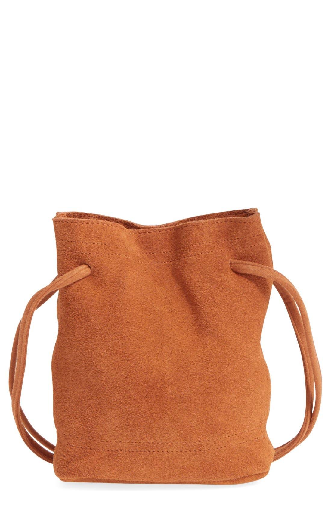 Main Image - Street Level Suede Crossbody Bag
