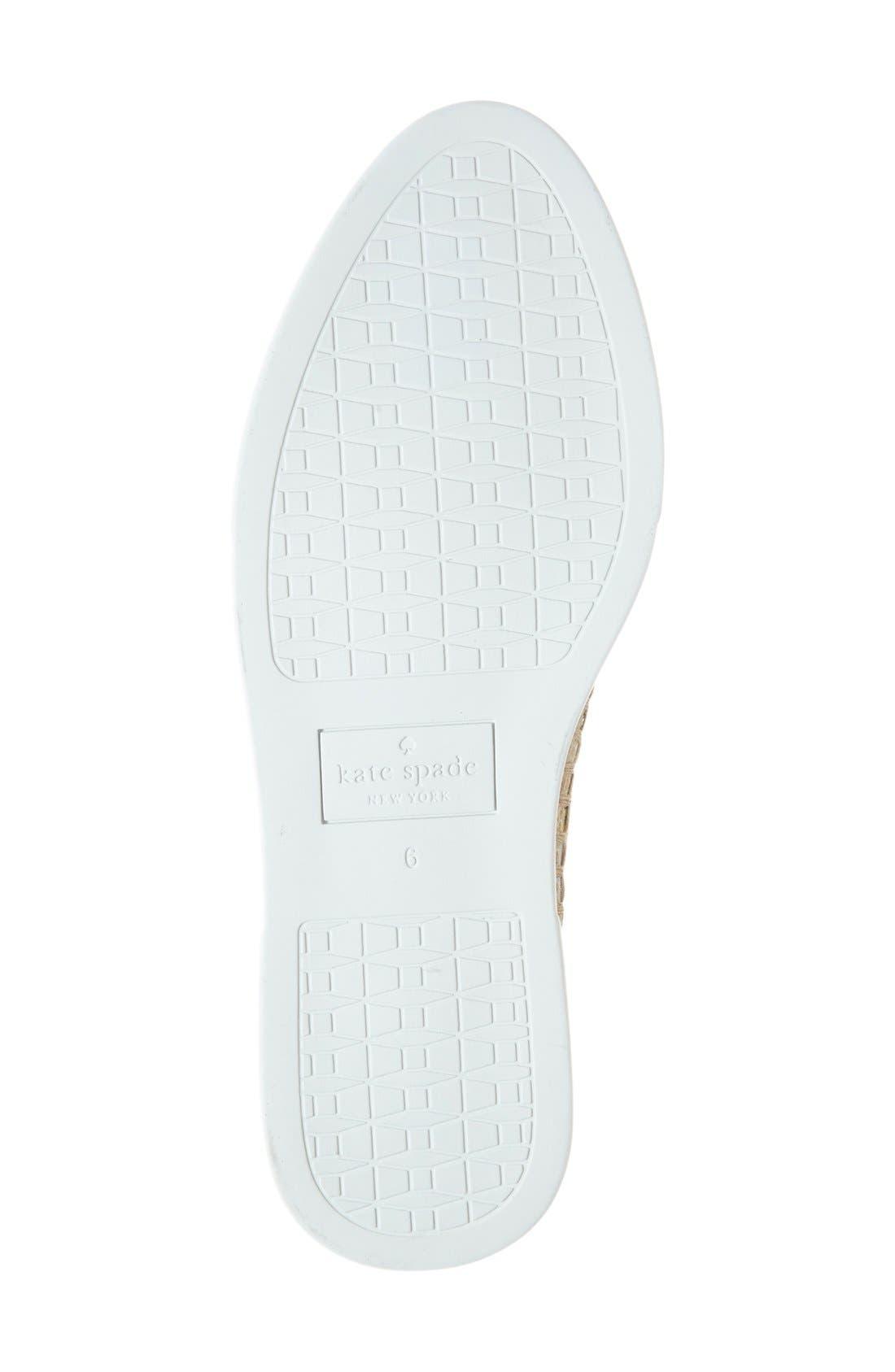 Alternate Image 4  - kate spade new york 'cory' slip-on sneaker (Women)