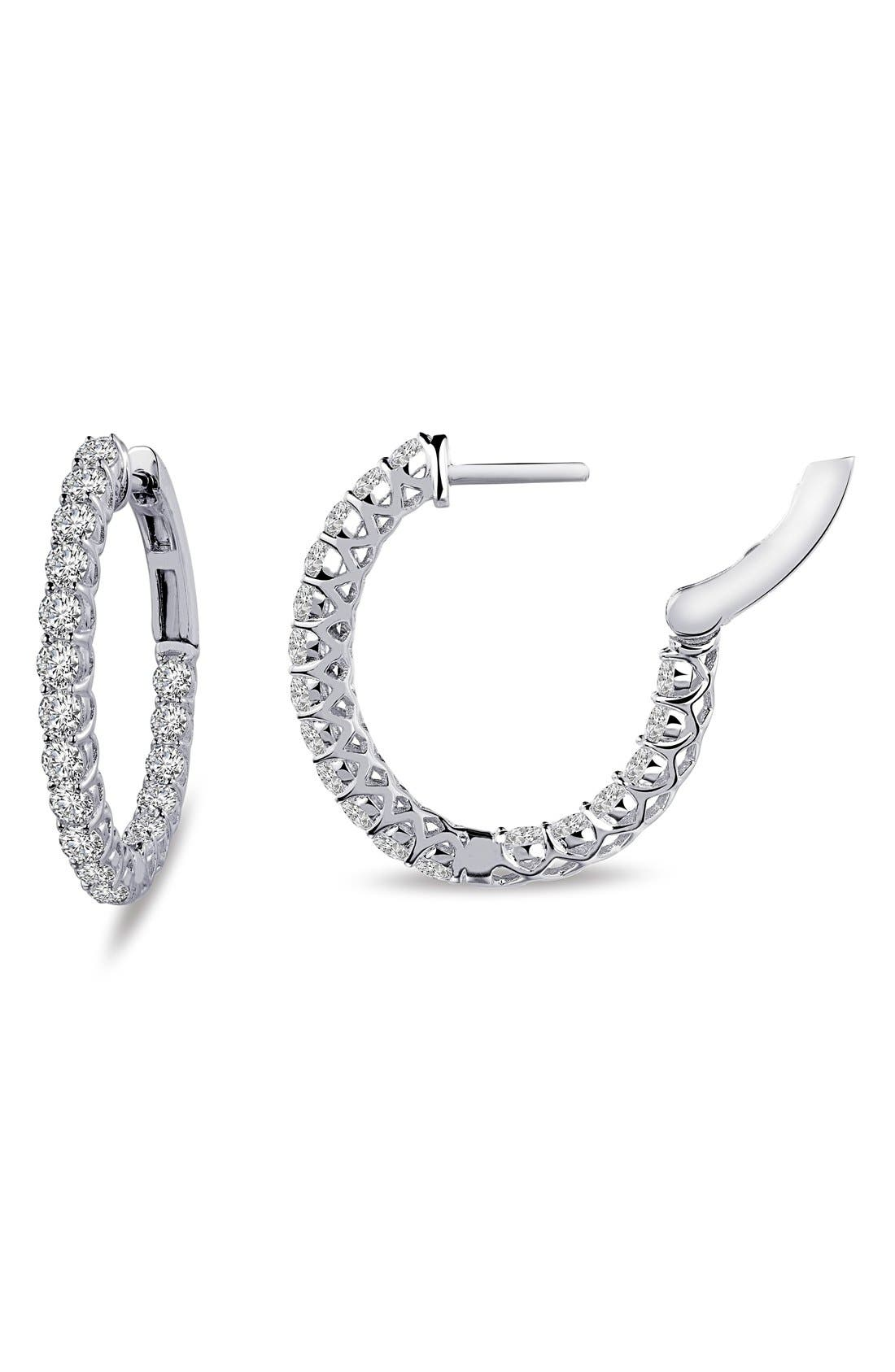 Lafonn 'Lassaire' Oval Hoop Earrings
