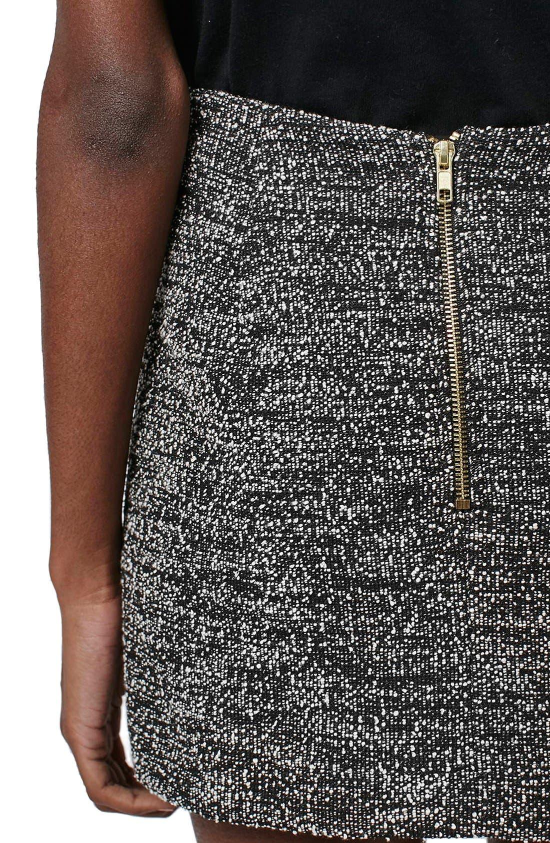 Alternate Image 5  - Topshop A-Line Bouclé Skirt (Petite)