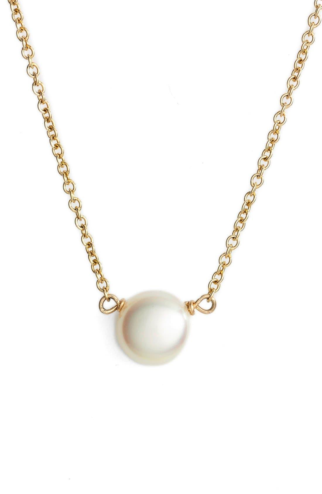 Alternate Image 2  - Dogeared Pearl Pendant Necklace