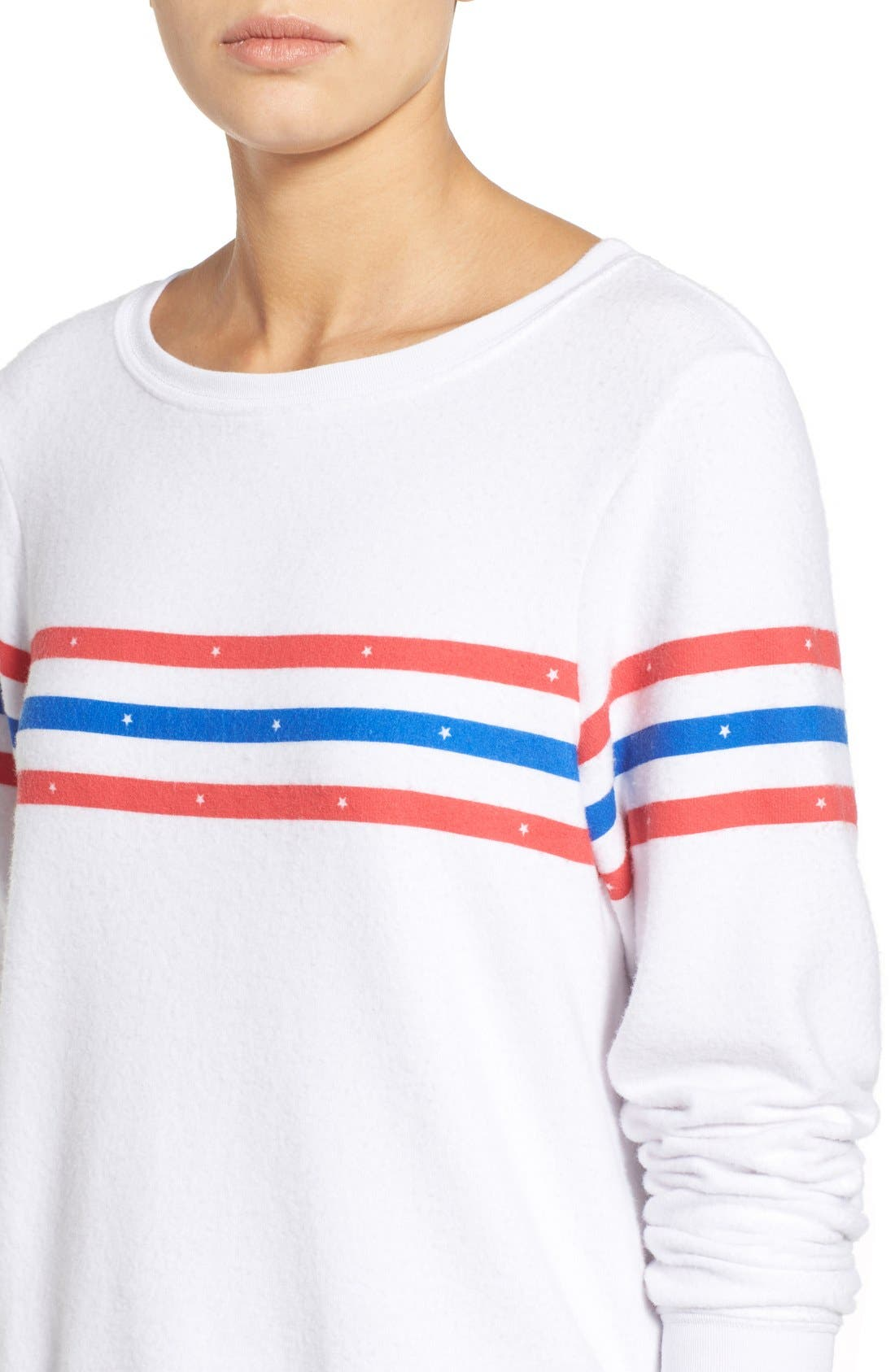 Alternate Image 4  - Wildfox 'US Gladiator' Stripe Pullover