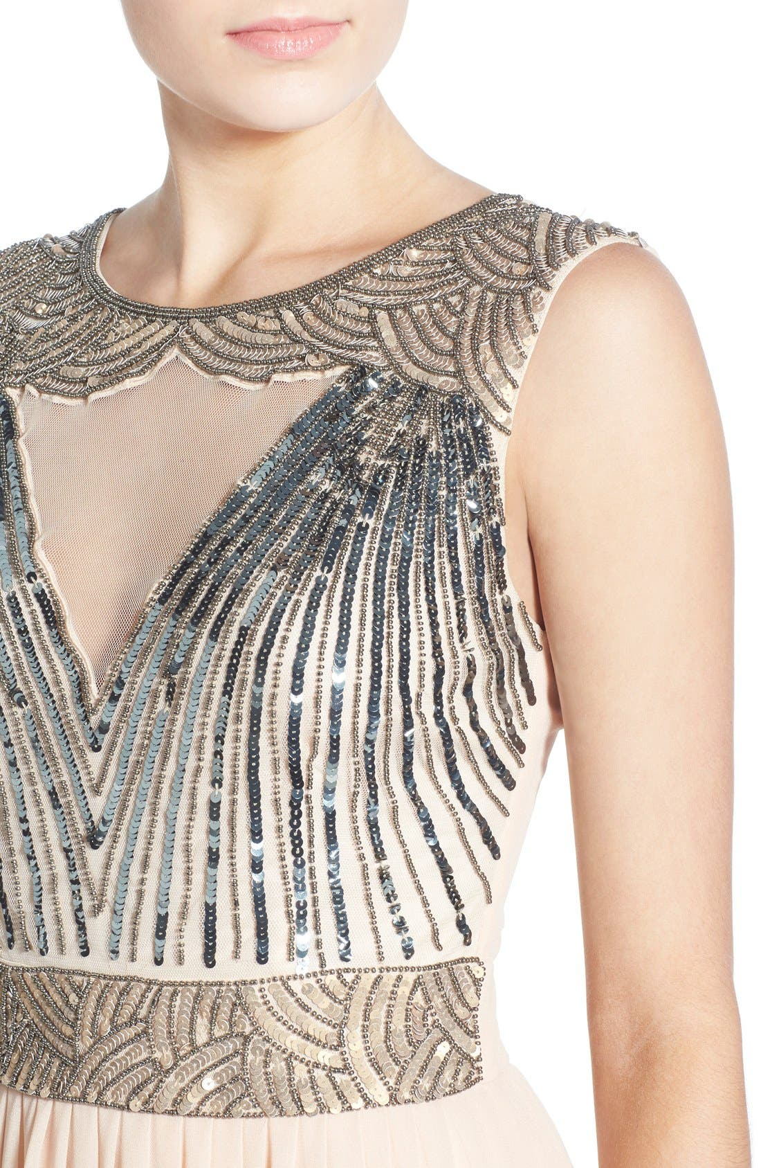 Alternate Image 4  - Lace & Beads 'Tina' Embellished Maxi Dress