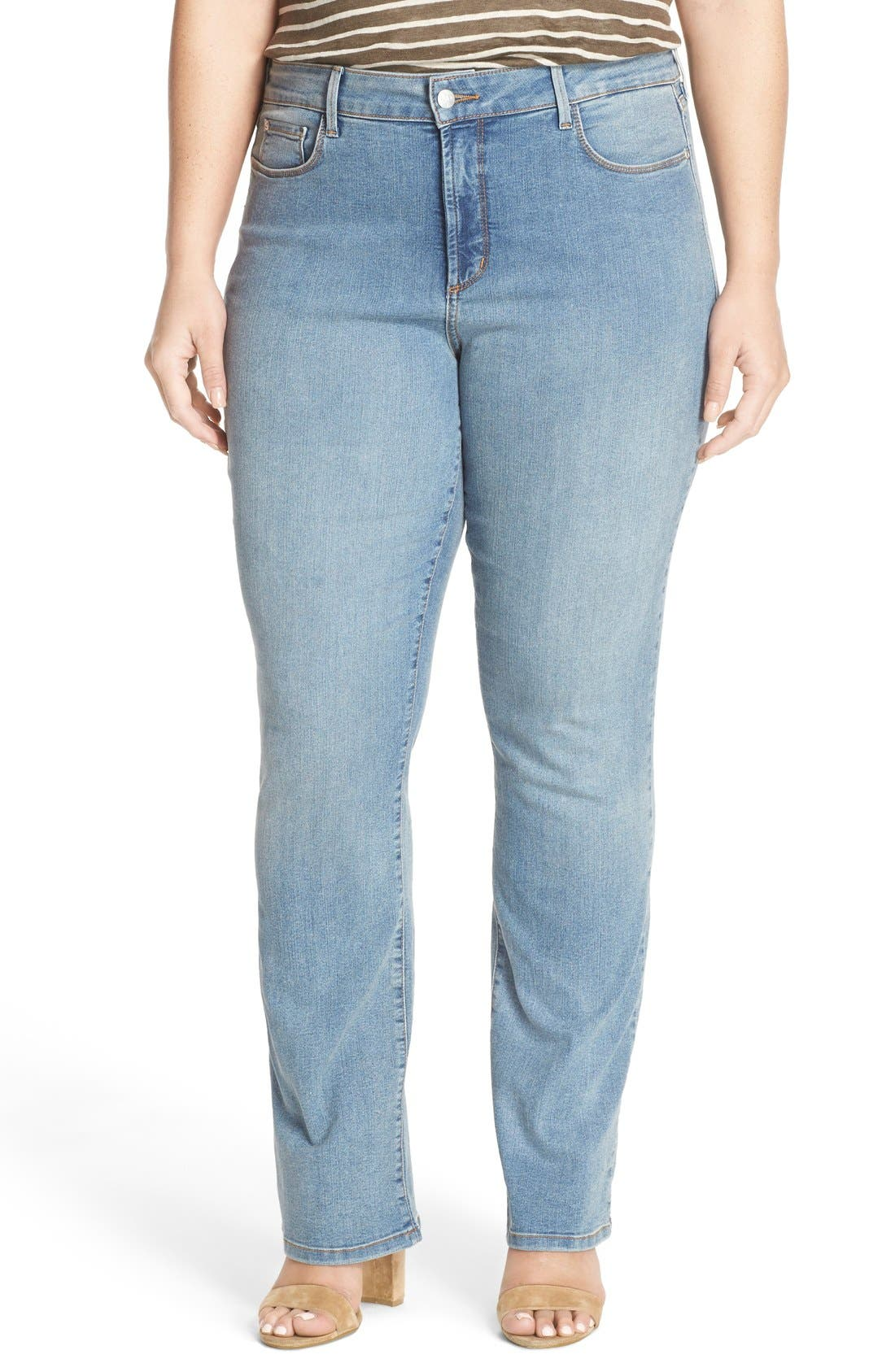 Alternate Image 1 Selected - NYDJ 'Billie' Stretch Mini Bootcut Jeans (Plus Size)