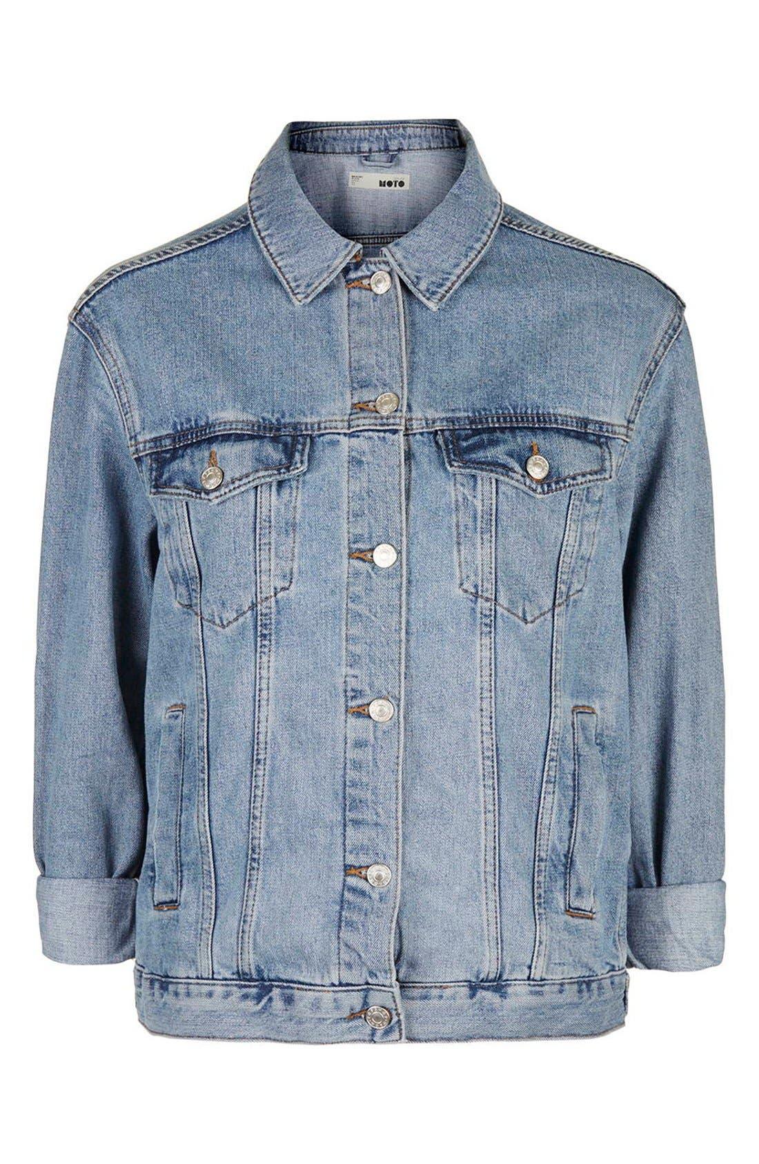 Alternate Image 3  - Topshop Oversize Denim Jacket (Regular & Petite)