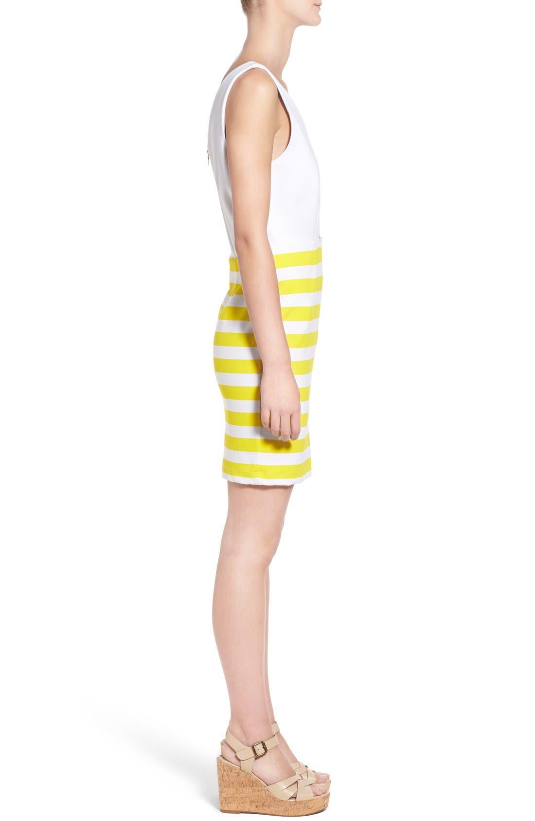 Alternate Image 3  - Amour Vert 'Amber' Stripe Cutout Body-Con Dress