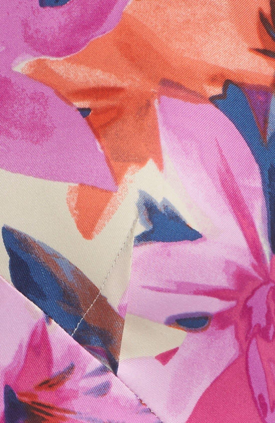 Alternate Image 5  - Donna Morgan Floral Print Woven Fit & Flare Dress