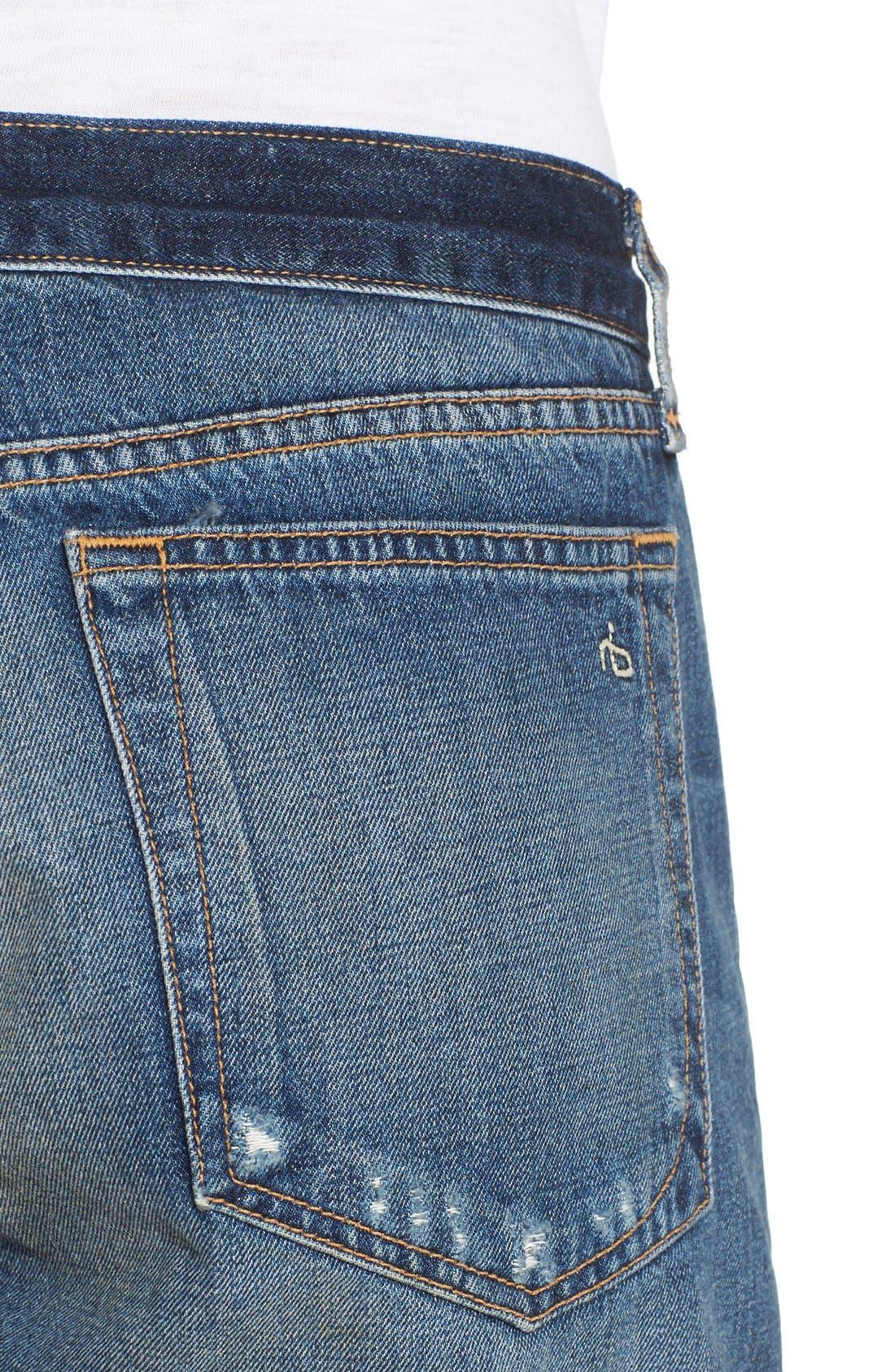 Alternate Image 4  - rag & bone 'Boyfriend' Cutoff Denim Shorts (Woodstock)