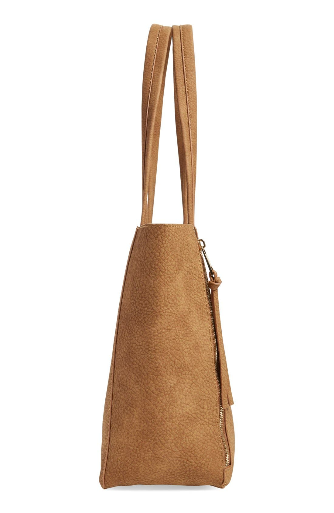Alternate Image 5  - BP. Zip Detail Faux Leather Tote