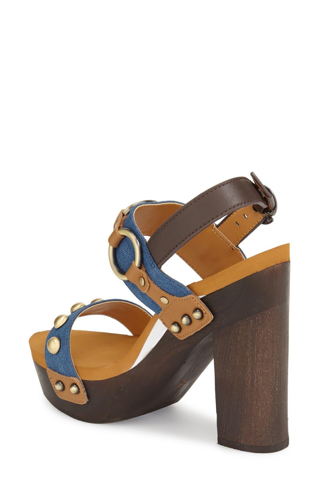 Alternate Image 2  - Flogg 'Entrada' Stud Harness Platform Sandal (Women)
