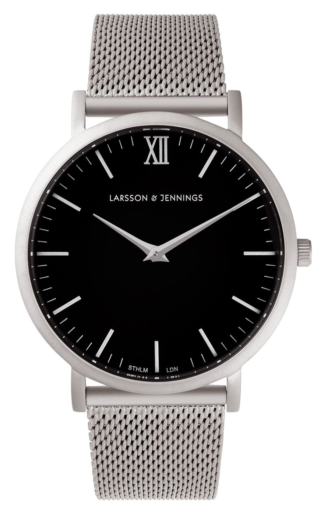 Alternate Image 1 Selected - Larsson & Jennings Lugano Mesh Strap Watch, 40mm
