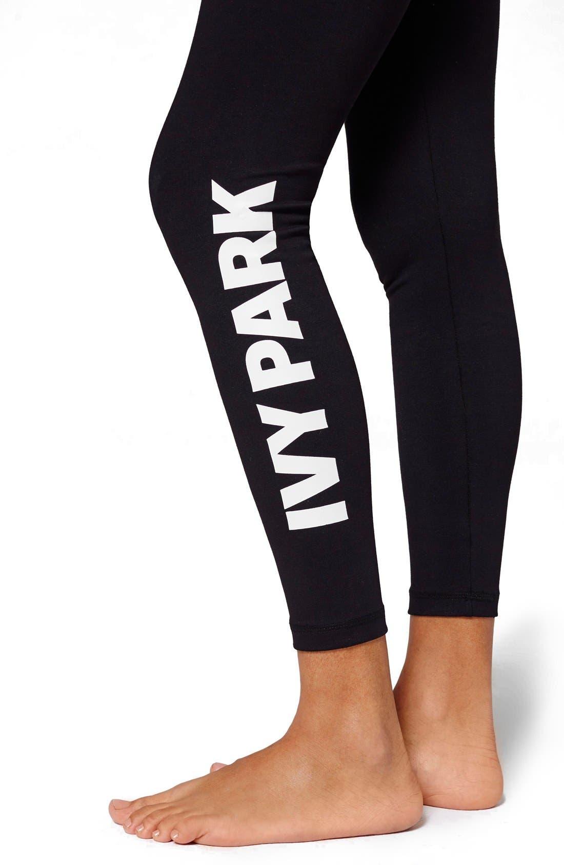Alternate Image 4  - IVY PARK® Logo Mid Rise Ankle Leggings