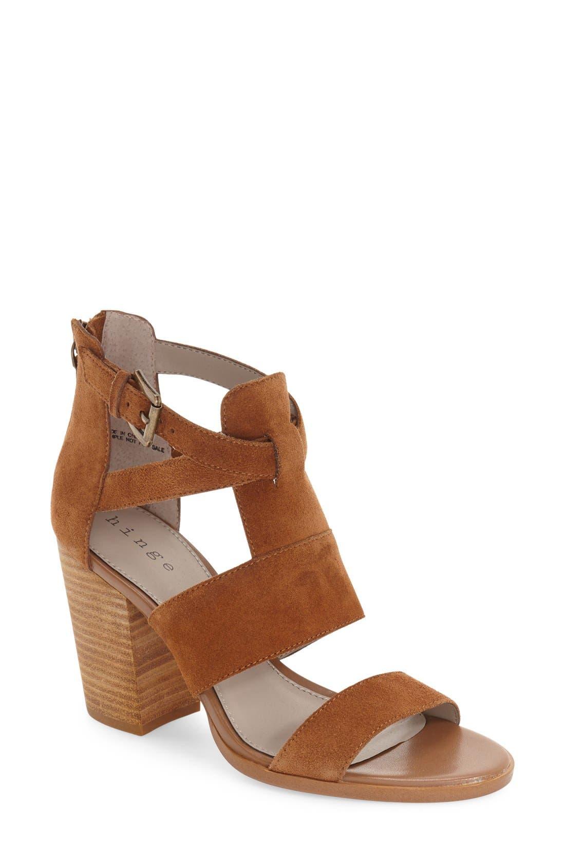 Hinge 'Cora' Block Heel Sandal (Women)