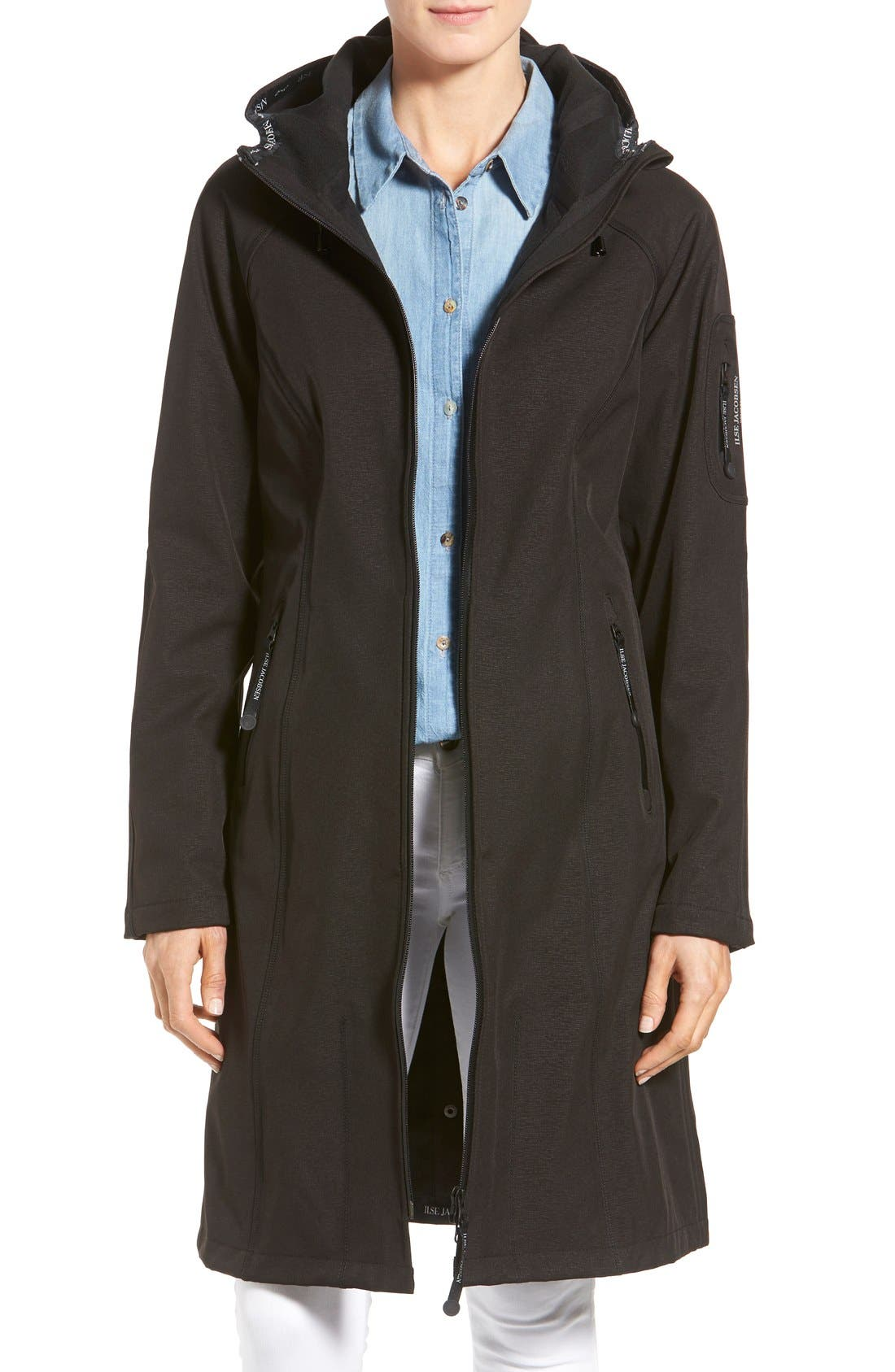 Ilse Jacobsen Long Hooded Raincoat