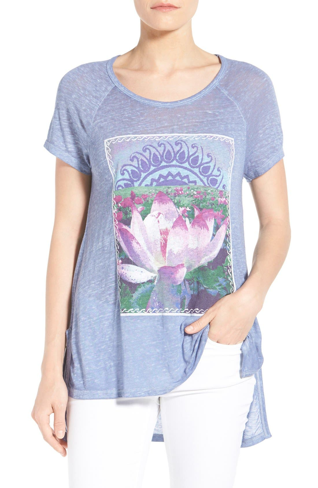 Alternate Image 1 Selected - Lucky Brand 'Lotus Matchbox' Graphic Tee