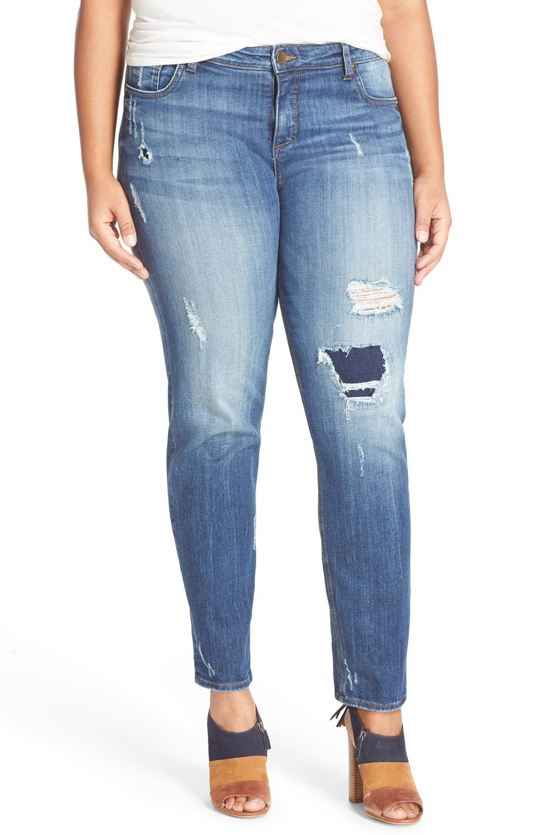 KUT FROM THE KLOTH Distressed Slouchy Boyfriend Jeans