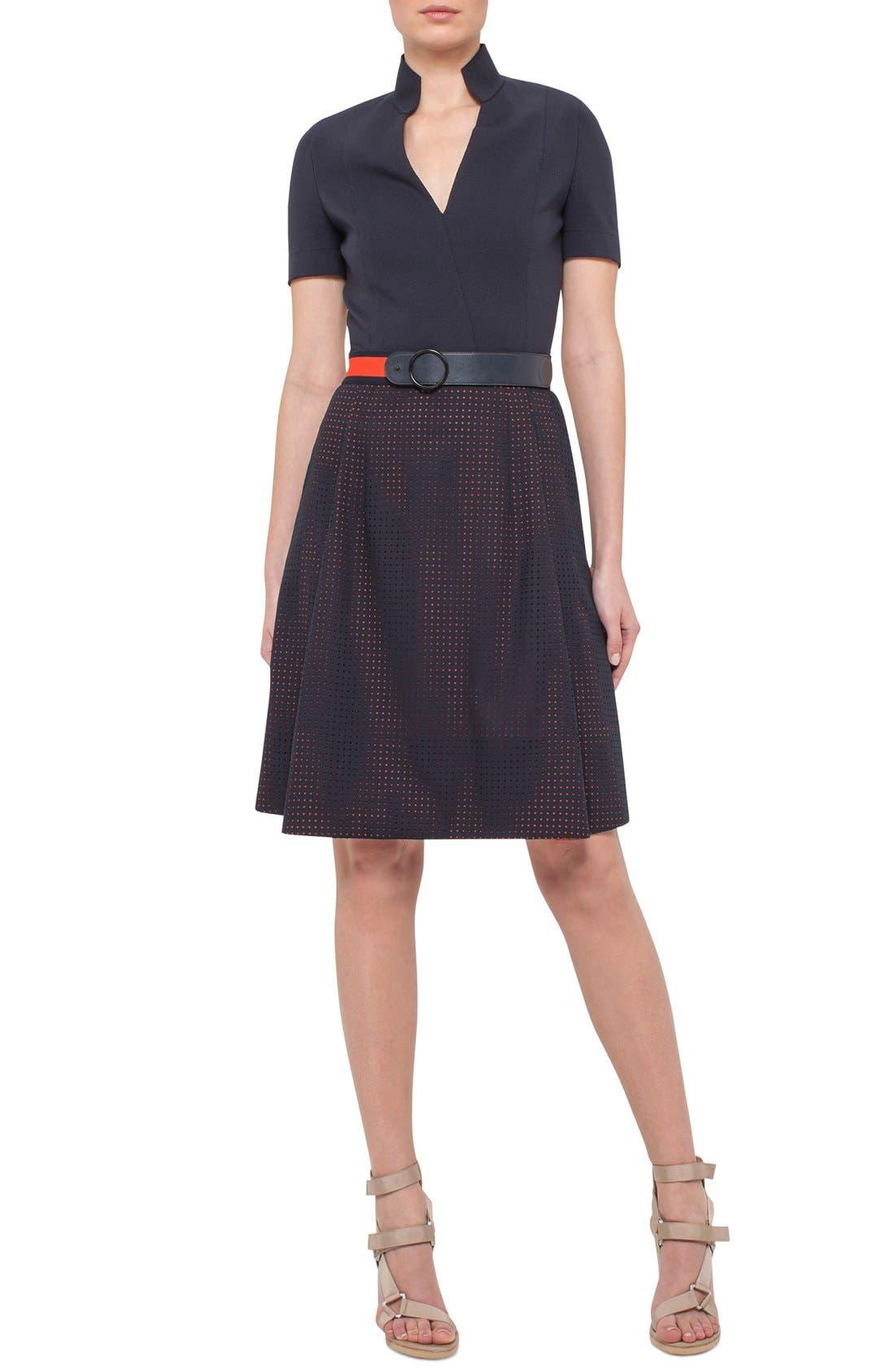 Alternate Image 4  - Akris punto Perforated Shirt Dress