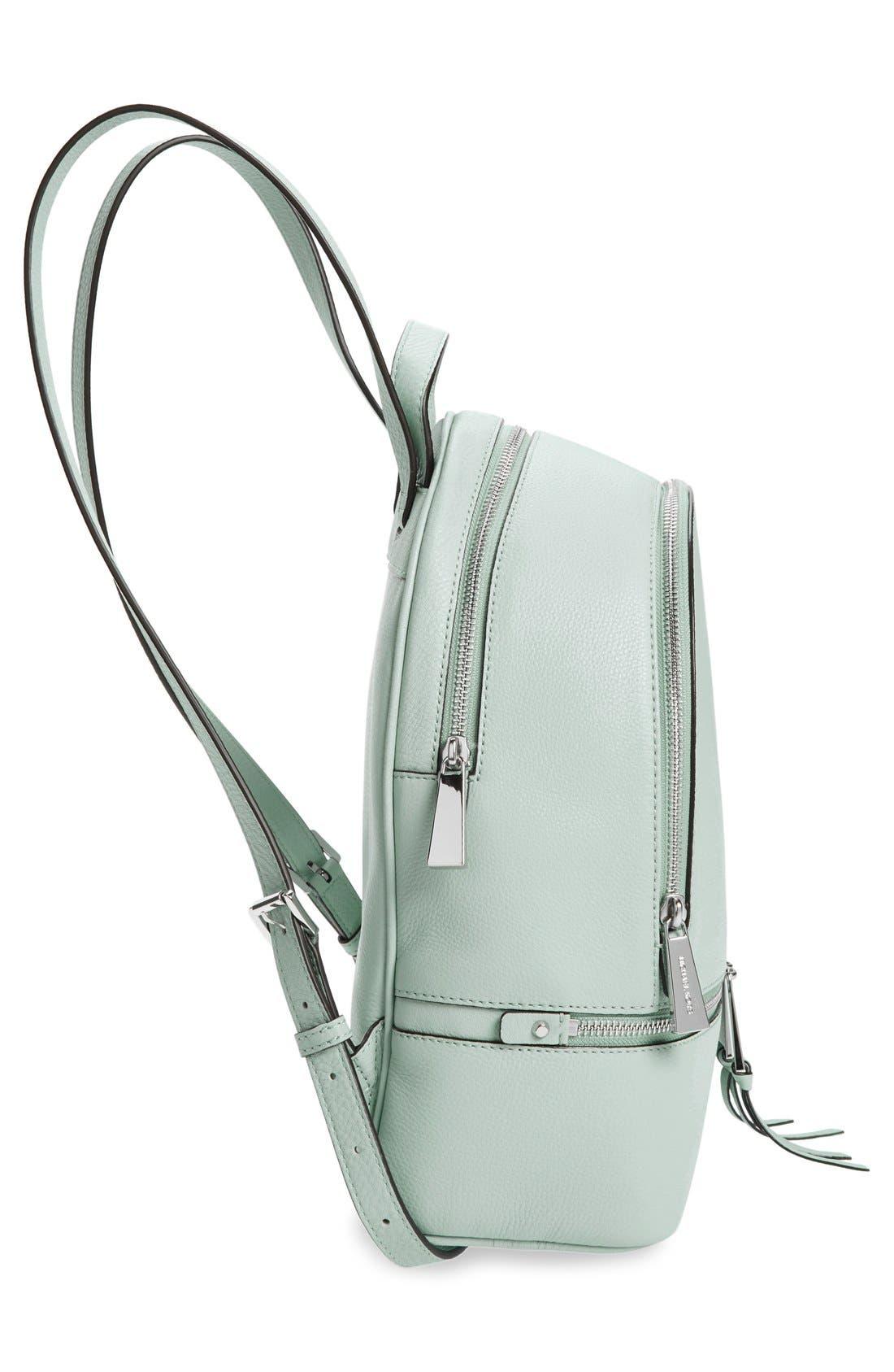 Alternate Image 5  - MICHAEL Michael Kors 'Small Rhea Zip' Leather Backpack