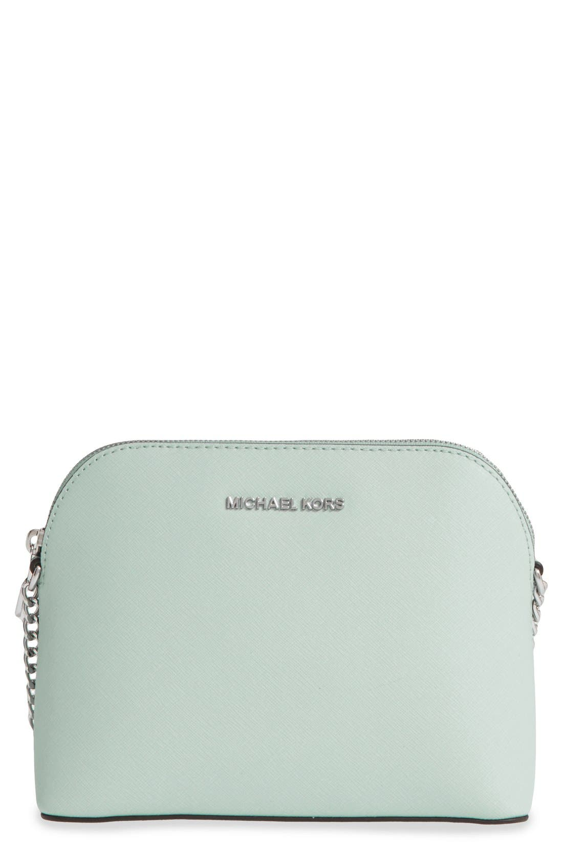 Alternate Image 1 Selected - MICHAEL Michael Kors 'Large Cindy' Saffiano Leather Crossbody Bag