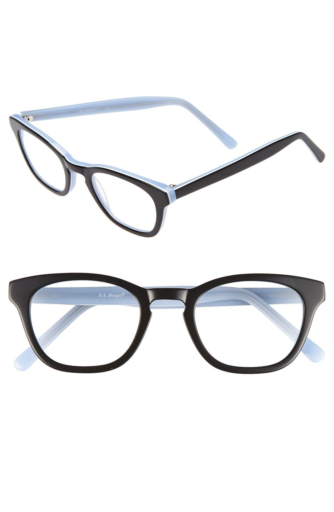 a j click 48mm reading glasses nordstrom