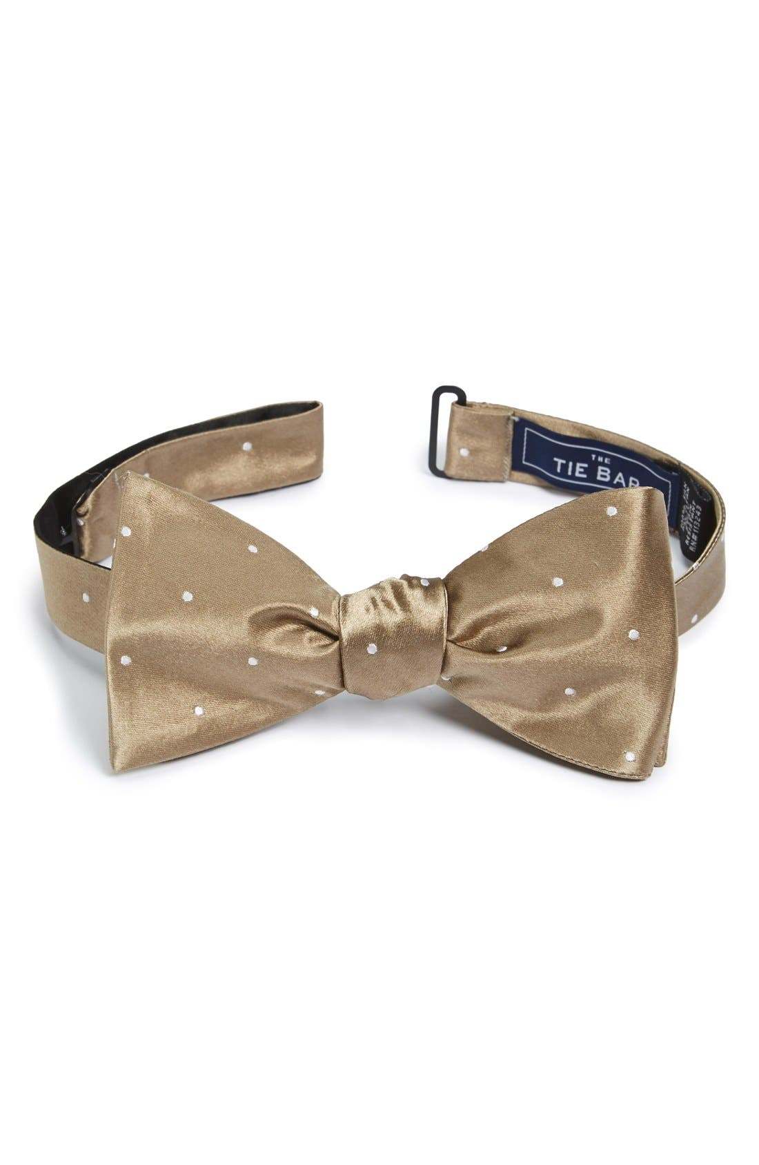 The Tie Bar Dot Silk Bow Tie