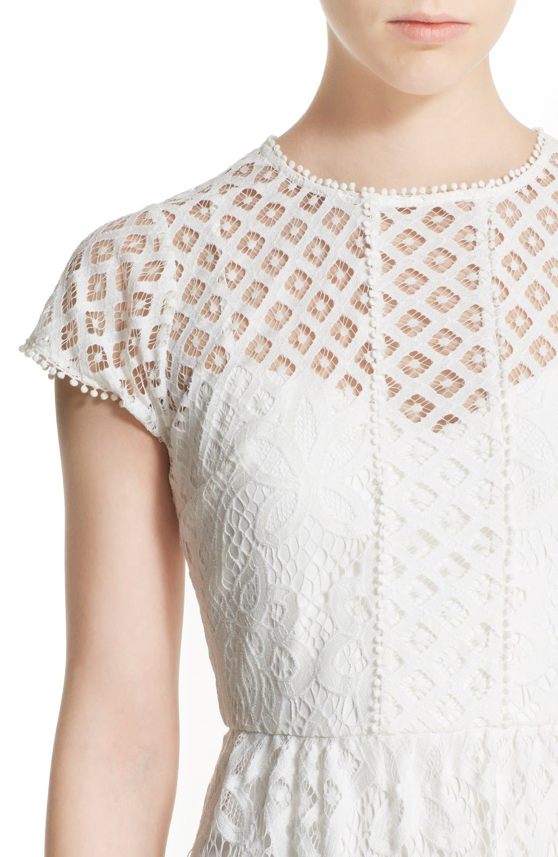 Alternate Image 4  - Parker 'Talulah' Lace Fit & Flare Dress