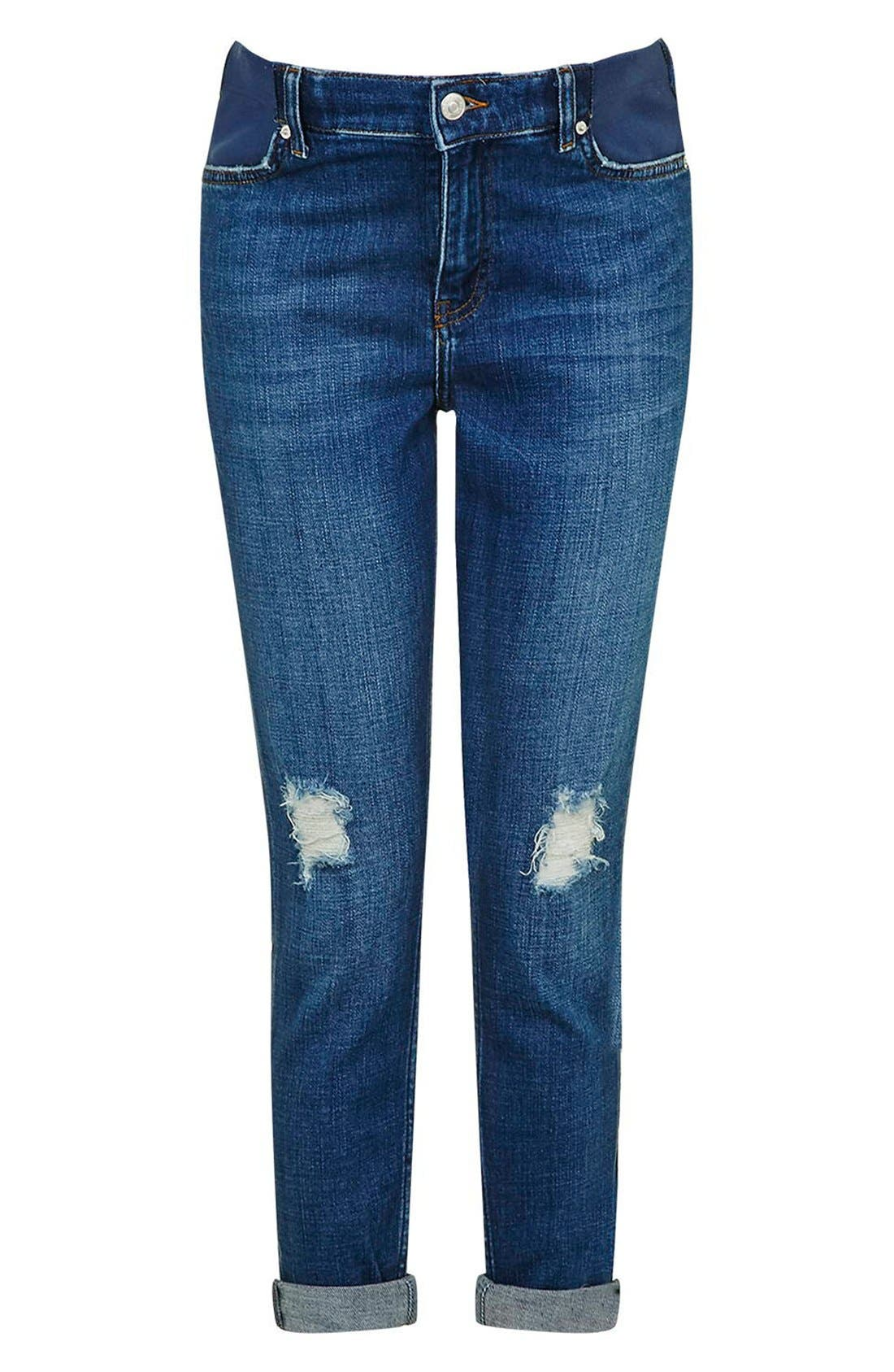 Alternate Image 1 Selected - Topshop Moto 'Lucas' Maternity Boyfriend Jeans
