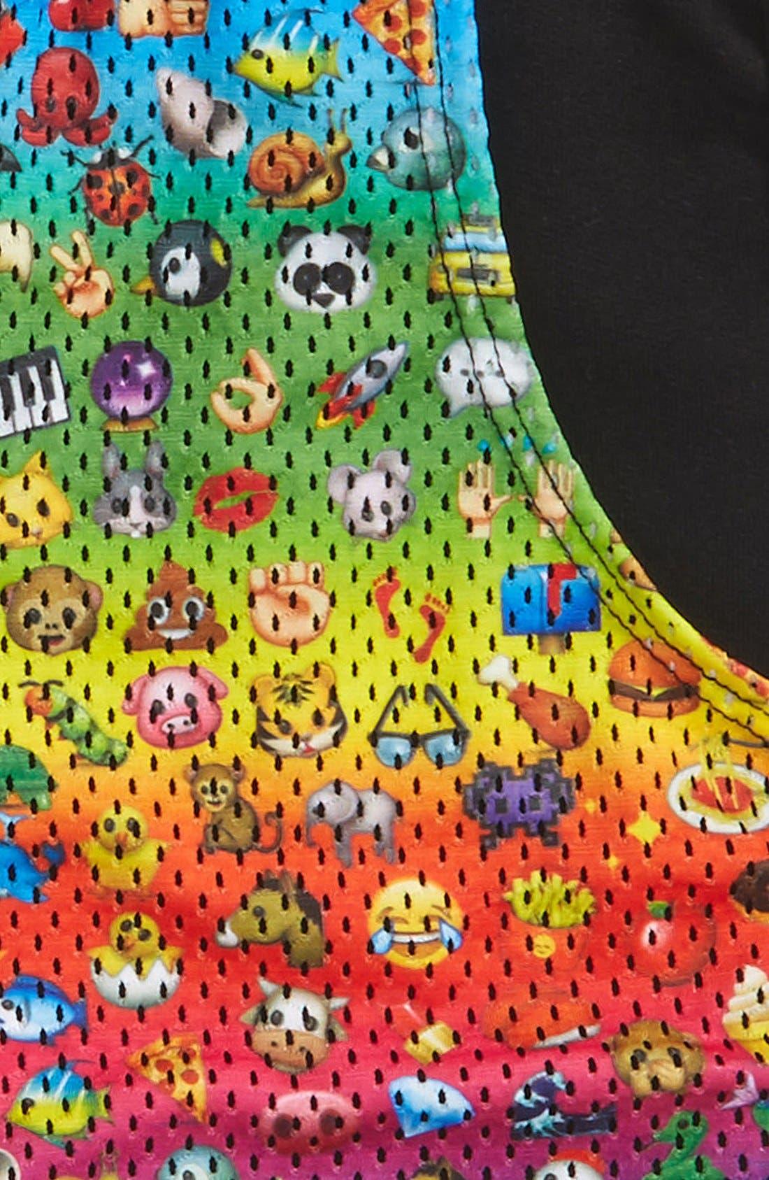 Alternate Image 2  - Terez 'Rainbow Emoji' Shorts (Big Girls)
