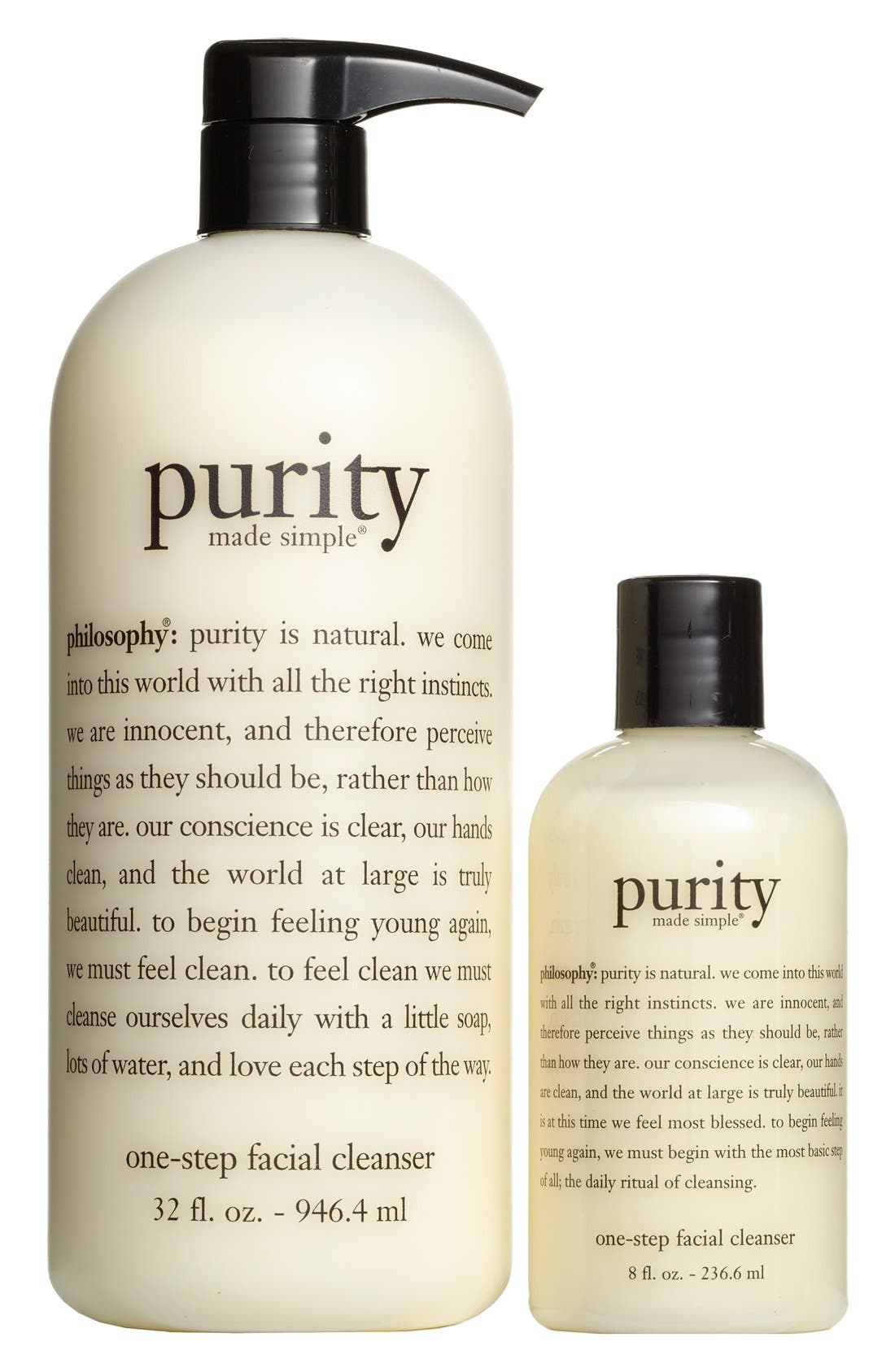 philosophy 'purity made simple' one-step facial cleanser duo (Nordstrom Exclusive) ($79 Value)