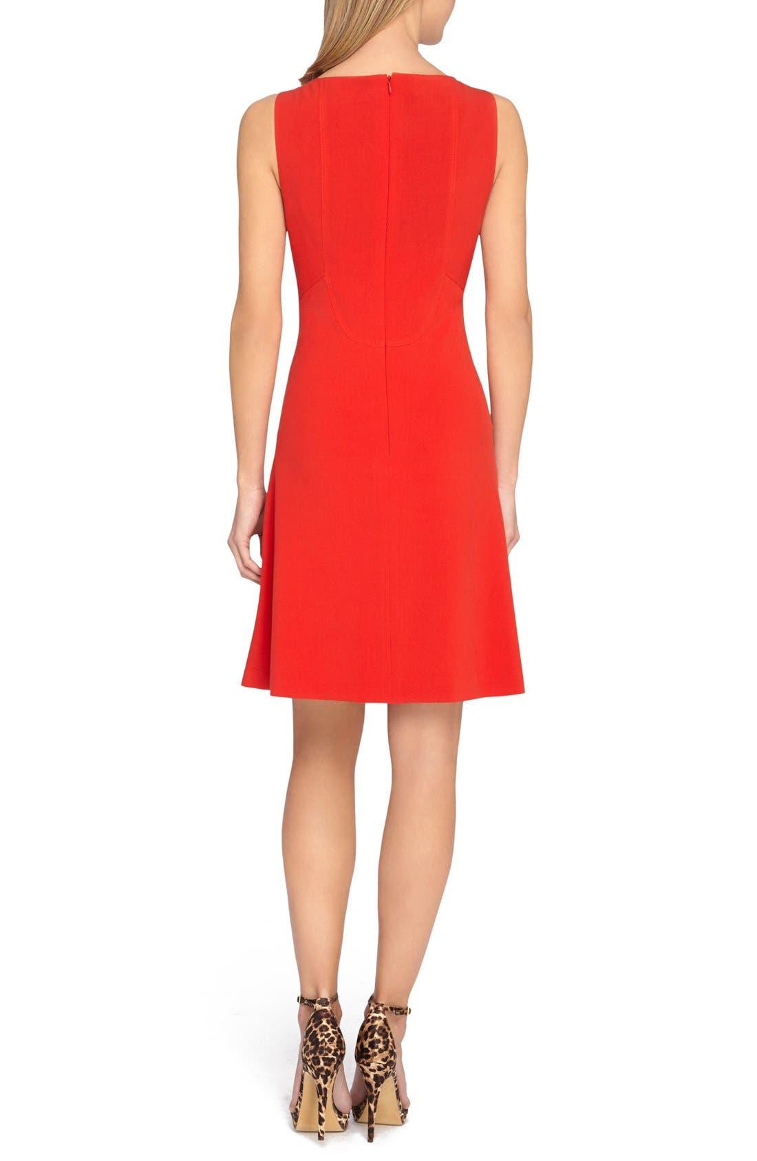 Alternate Image 2  - Tahari Seamed Knit Fit & Flare Dress
