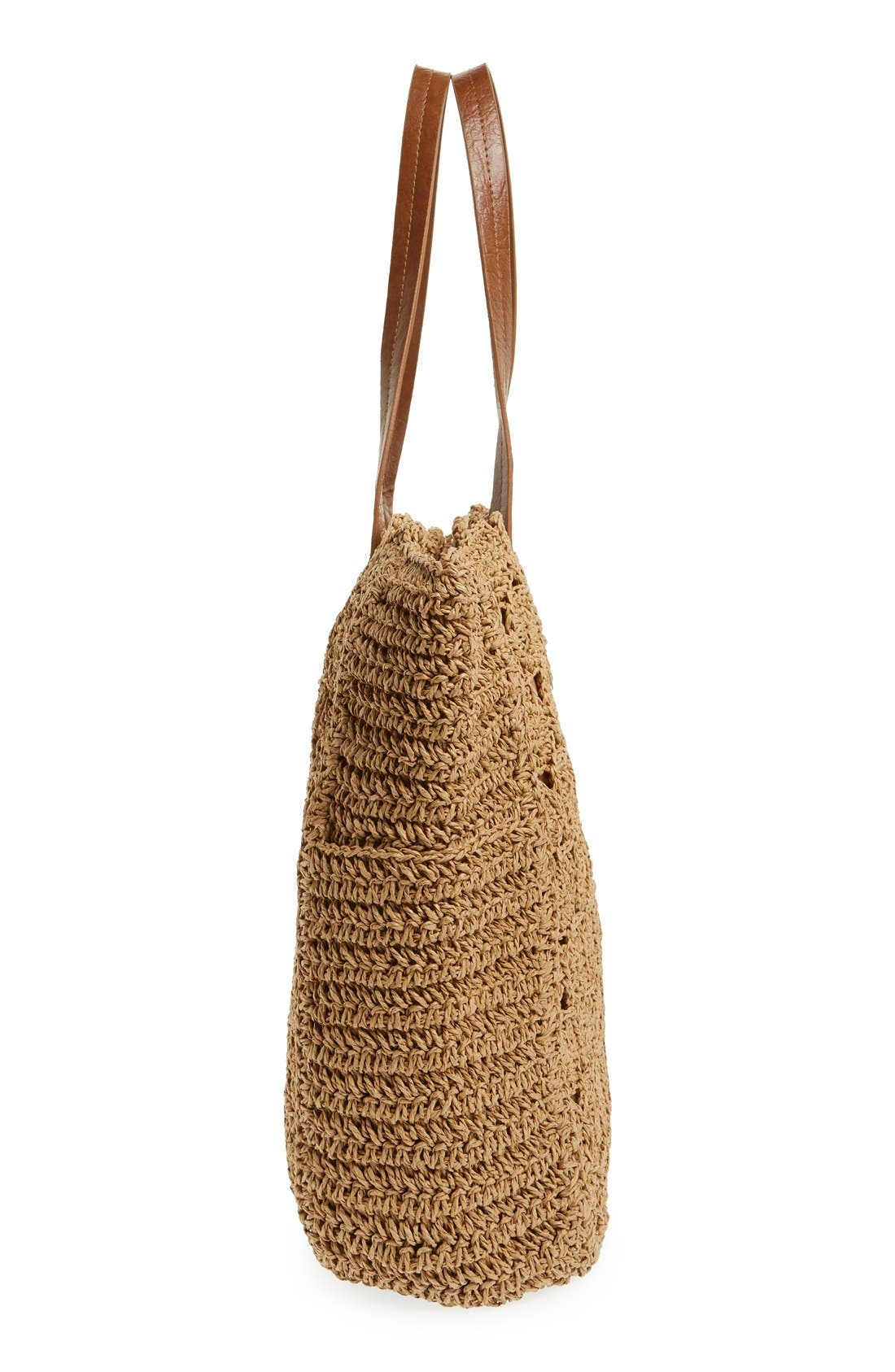 Alternate Image 4  - Straw Studios Crochet Tote