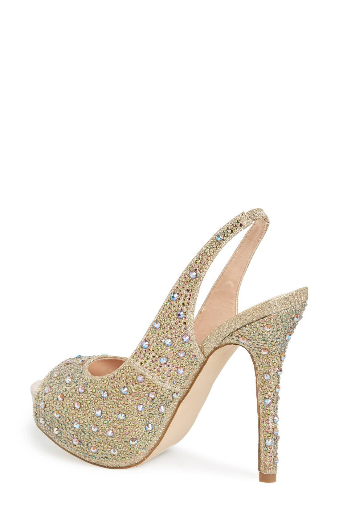 Alternate Image 2  - Lauren Lorraine 'Candy' Crystal Slingback Pump (Women)
