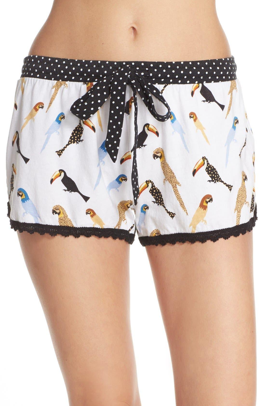 Main Image - PJ Salvage Bird Print Pajama Shorts