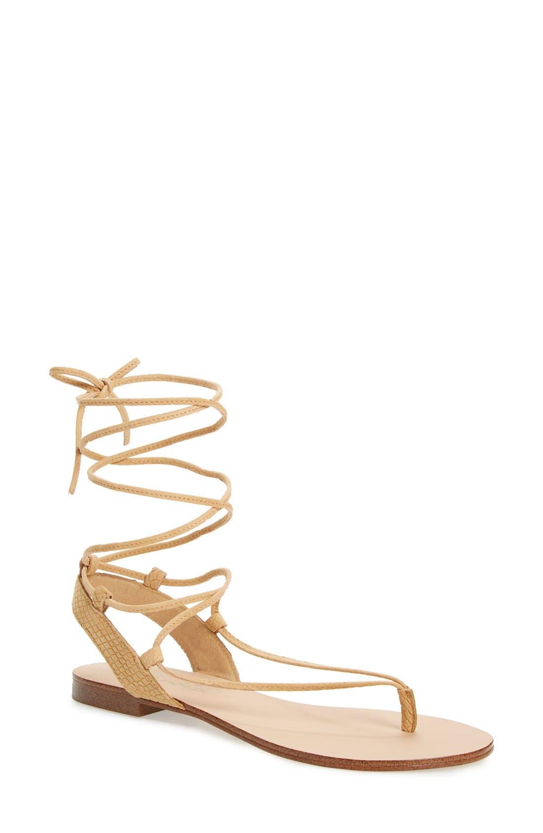 Main Image - Splendid 'Candee' Wraparound Lace Flat Sandal (Women)