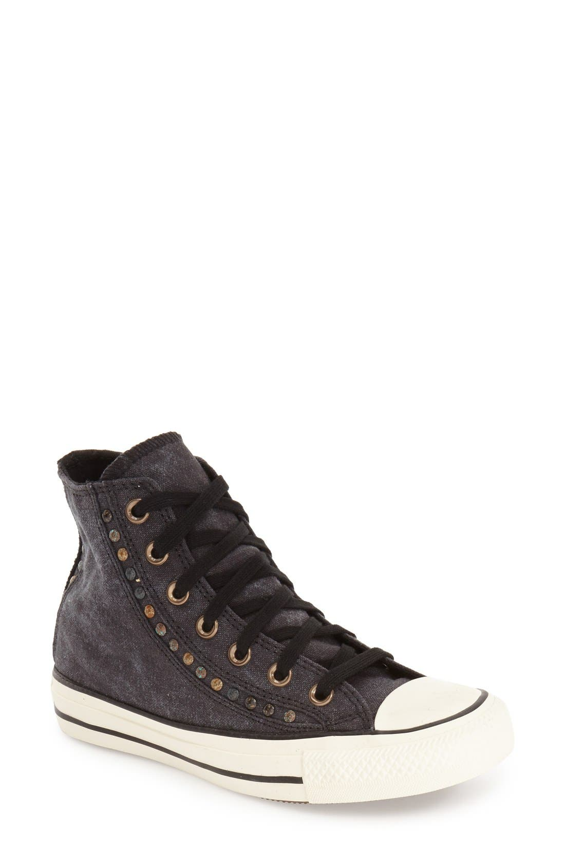 Alternate Image 1 Selected - Converse Chuck Taylor® All Star® 'Eyerow' Studded High Top Sneaker (Women)