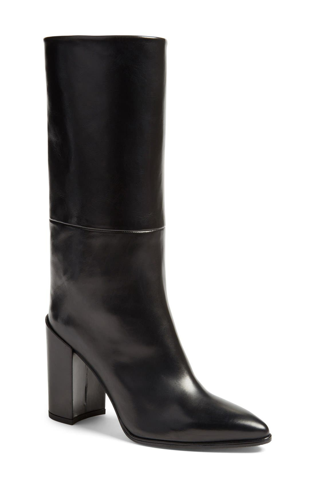 Alternate Image 1 Selected - Stuart Weitzman 'Straighten' Pointy Toe Boot (Women)