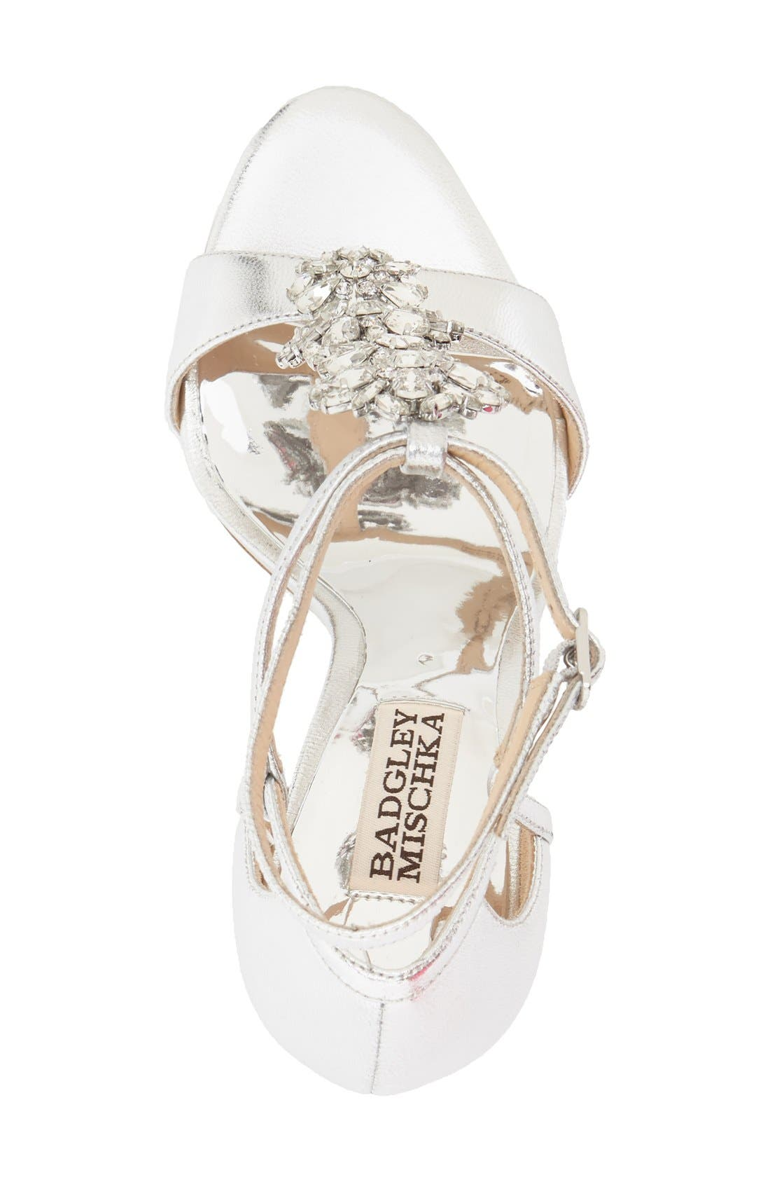 Alternate Image 3  - Badgley Mischka 'Leigh' Embellished Evening Sandal (Women)