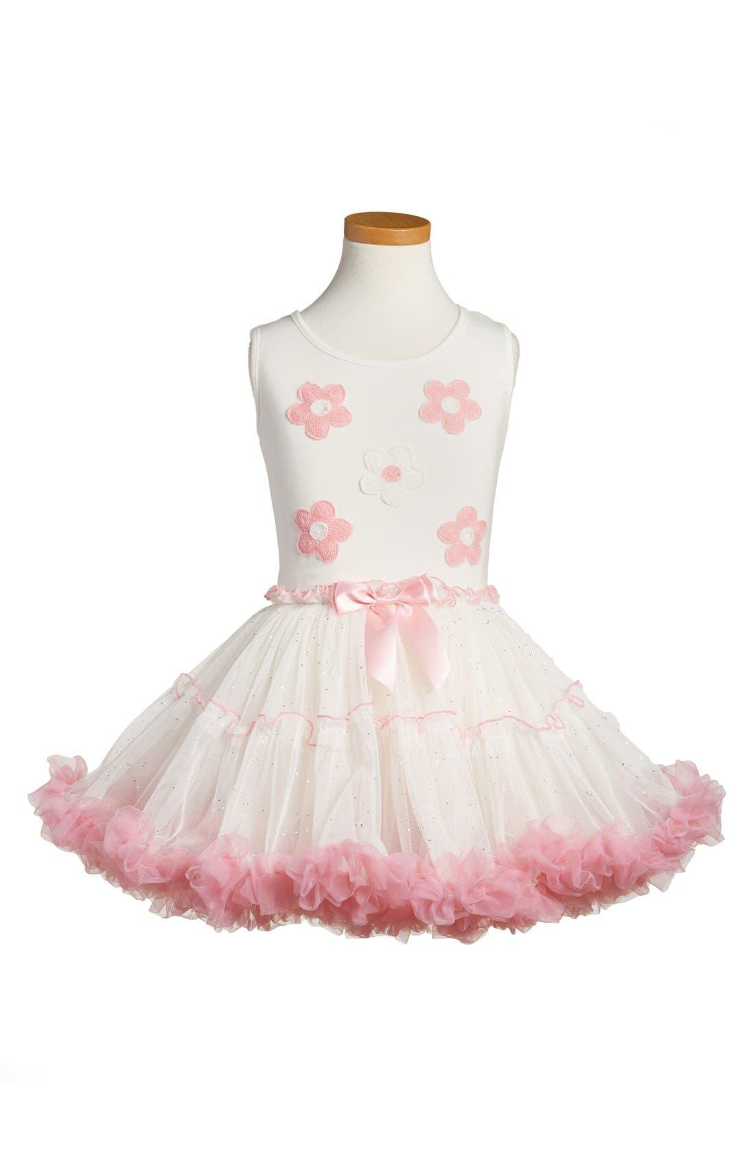 POPATU Embroidered Daisy Tutu Dress