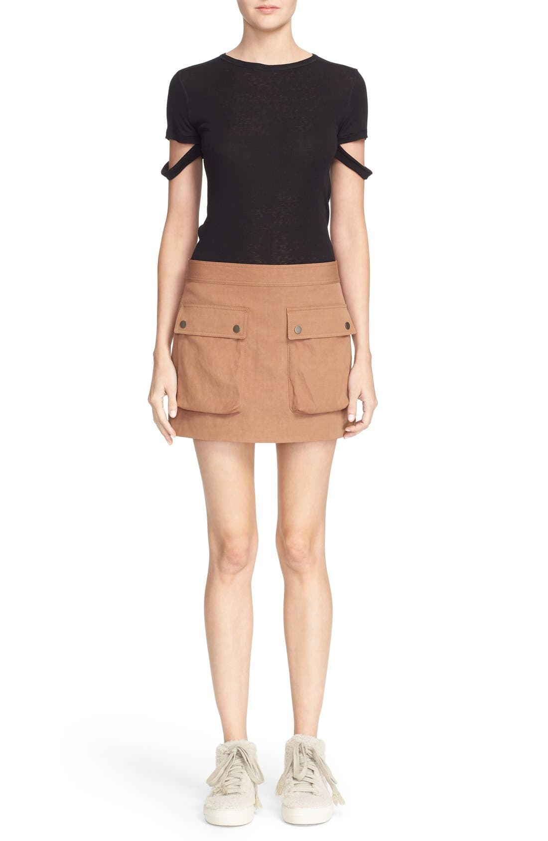 Alternate Image 2  - Helmut Lang Double Pocket Miniskirt