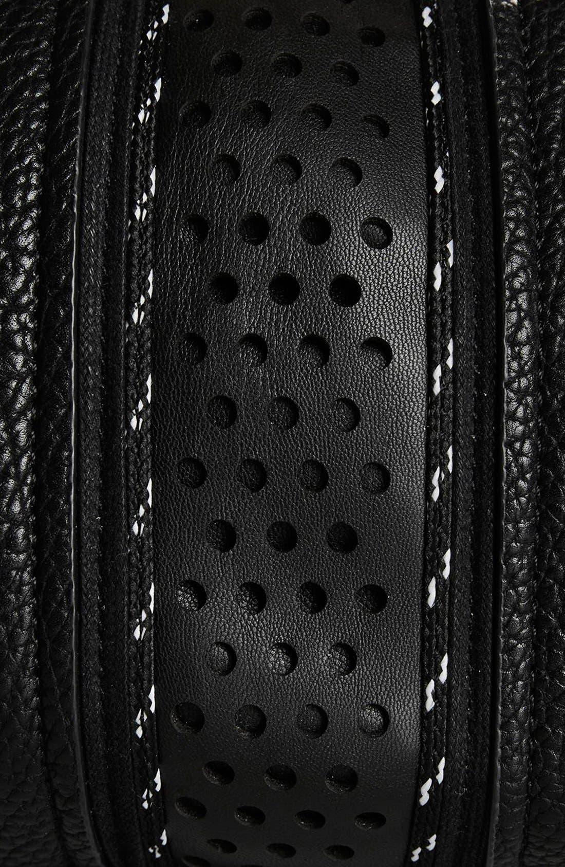 Alternate Image 5  - Topshop 'Tokyo' Sporty Faux Leather Bowler Satchel