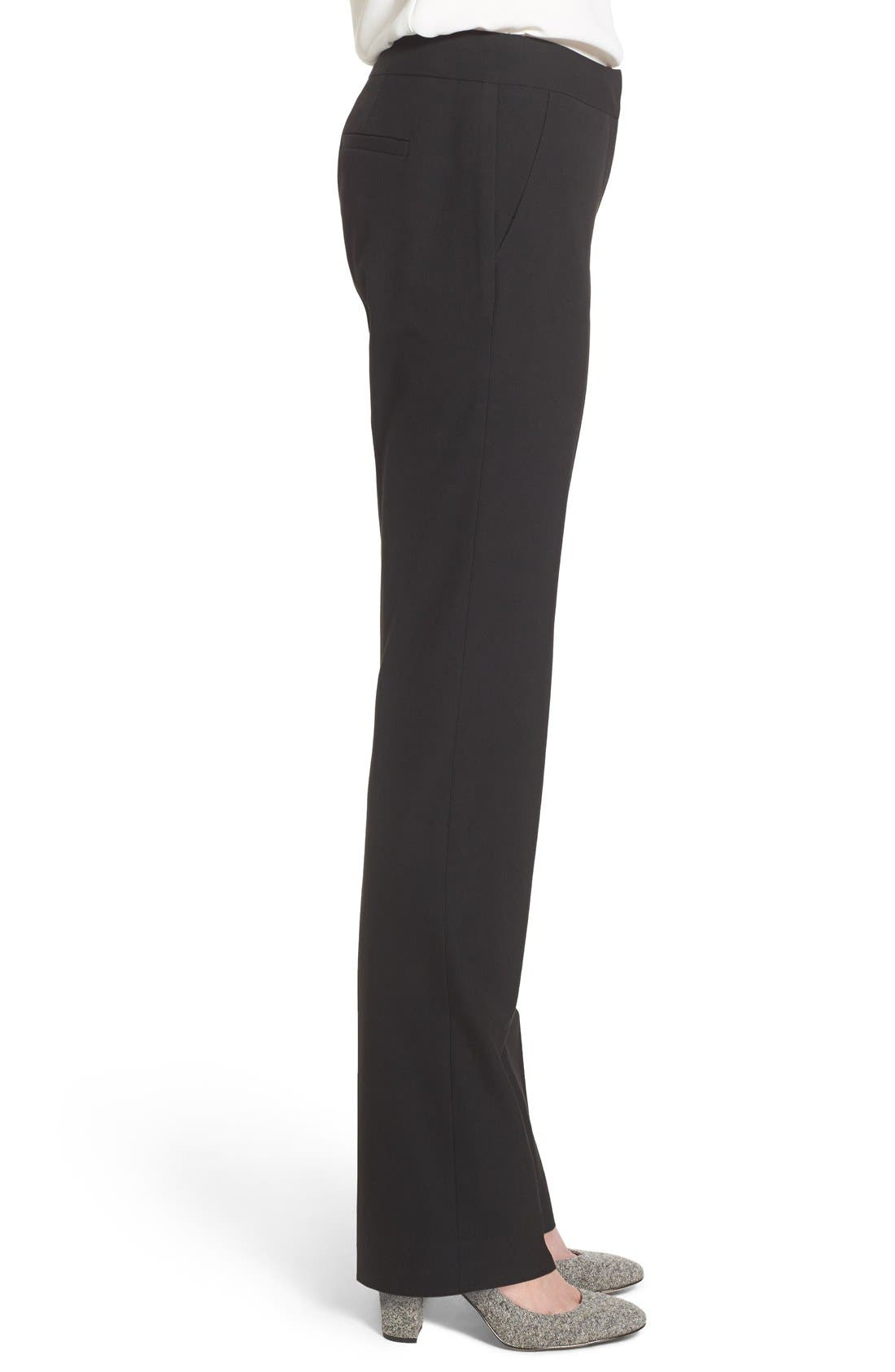 Alternate Image 4  - Halogen® 'Taylor - Ela' Straight Leg Suit Pants (Regular & Petite)