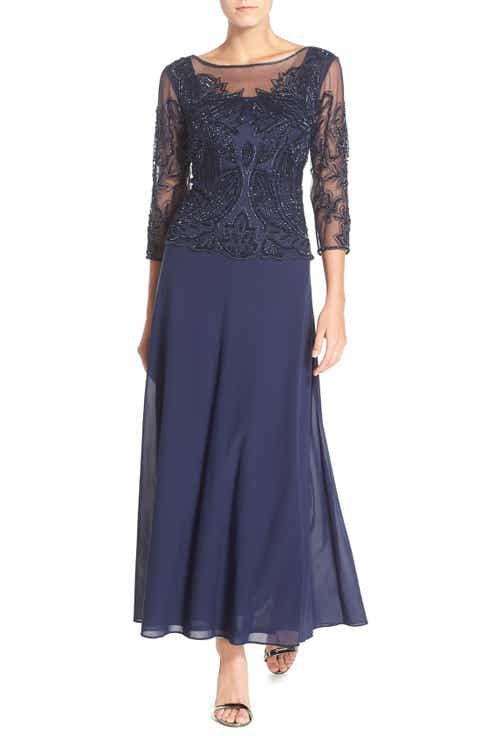 pisarro nights embellished mesh gown regular petite