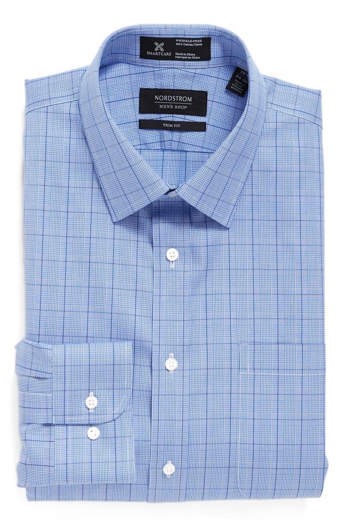 Nordstrom Men's Shop Smartcare™ Trim Fit Check Dress Shirt ...  From Dress Shirts Nordstrom