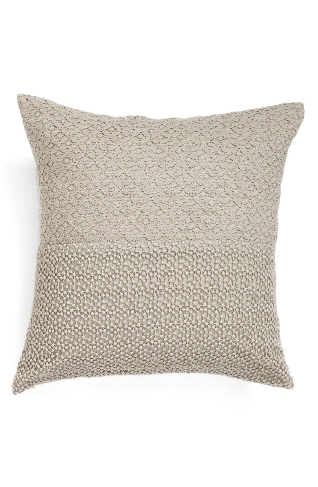 Alternate Image 1 Selected - Nordstrom at Home 'Maya' Lace Trim Pillow